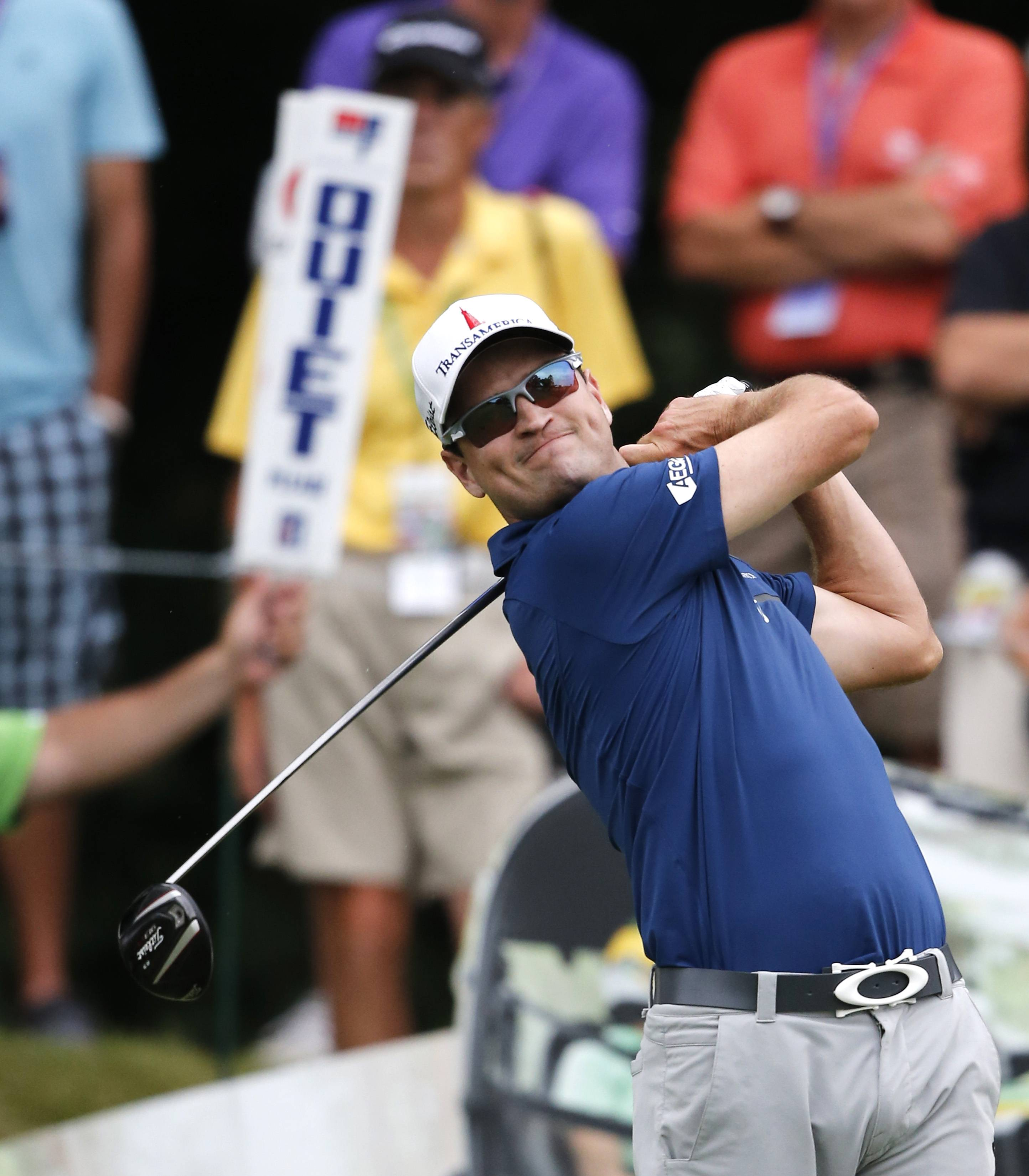 Cedar Rapids native Zach Johnson is the co-leader after the second round of the John Deere Classic on Friday at TPC Deere Run in Silvis, Ill.