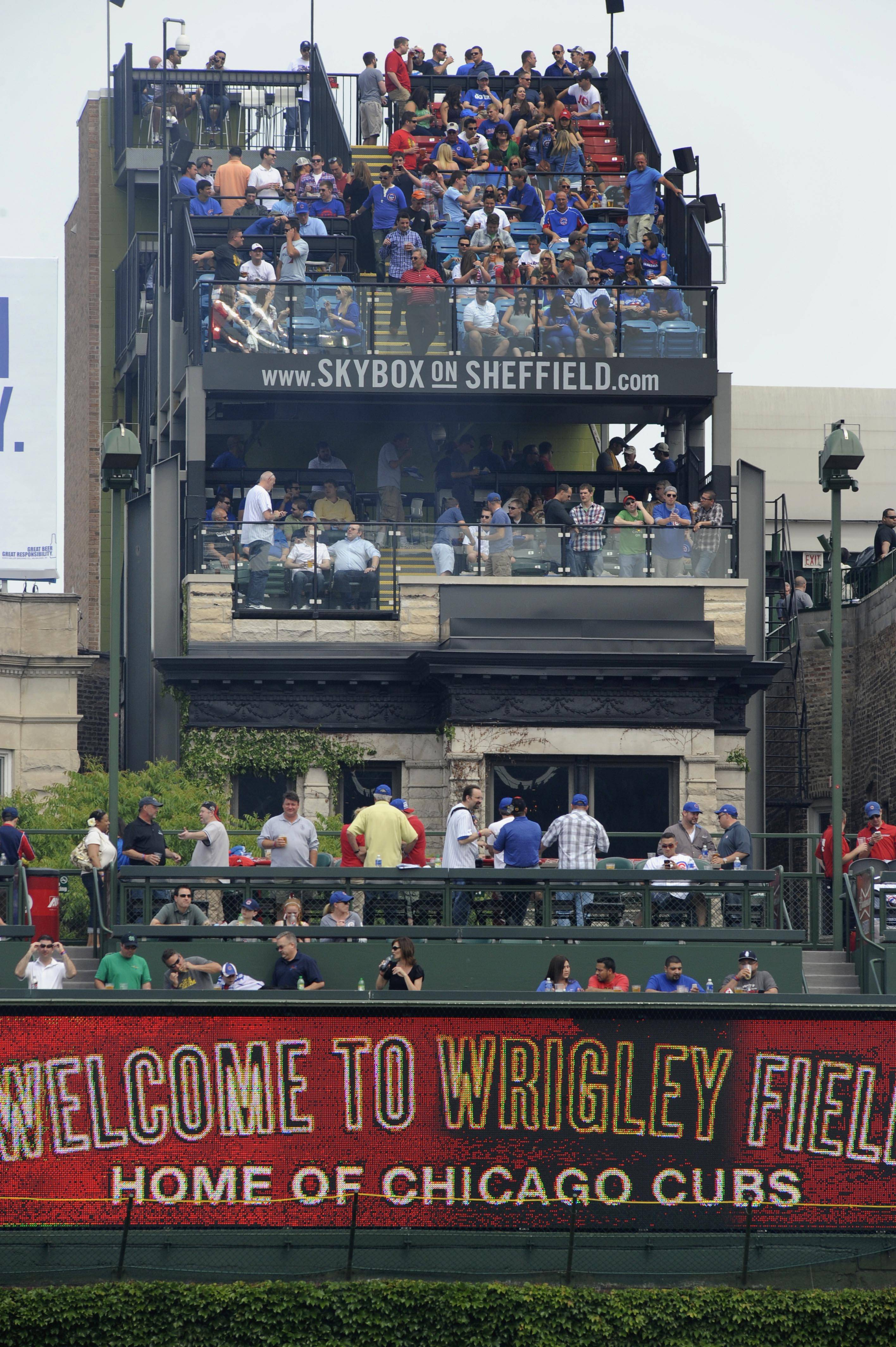 Cubs chairman Tom Ricketts said Friday the organization will move ahead with renovation plans for Wrigley Field, but he did not offer a start date. Ricketts said he expects to continue to talk with rooftop owners who disagreed with the ruling by the city's Landmarks Commission to approve plans by the Cubs.