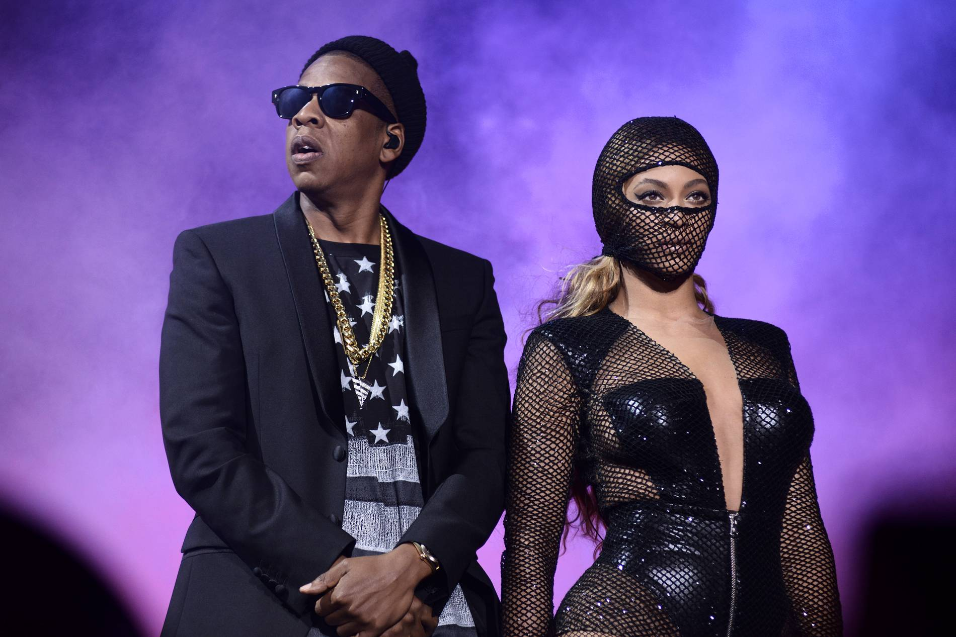"Jay Z and Beyoncé perform on their ""On The Run Tour"" at Gillette Stadium in Foxborough, Mass. Beyoncé and Jay Z will co-star in an HBO concert special that will feature the married couple on their ""On the Run Tour"" performing in Paris. It will tape Sept. 12 and 13 at the Stade de France, featuring the superstars performing more than 40 songs, the network announced."