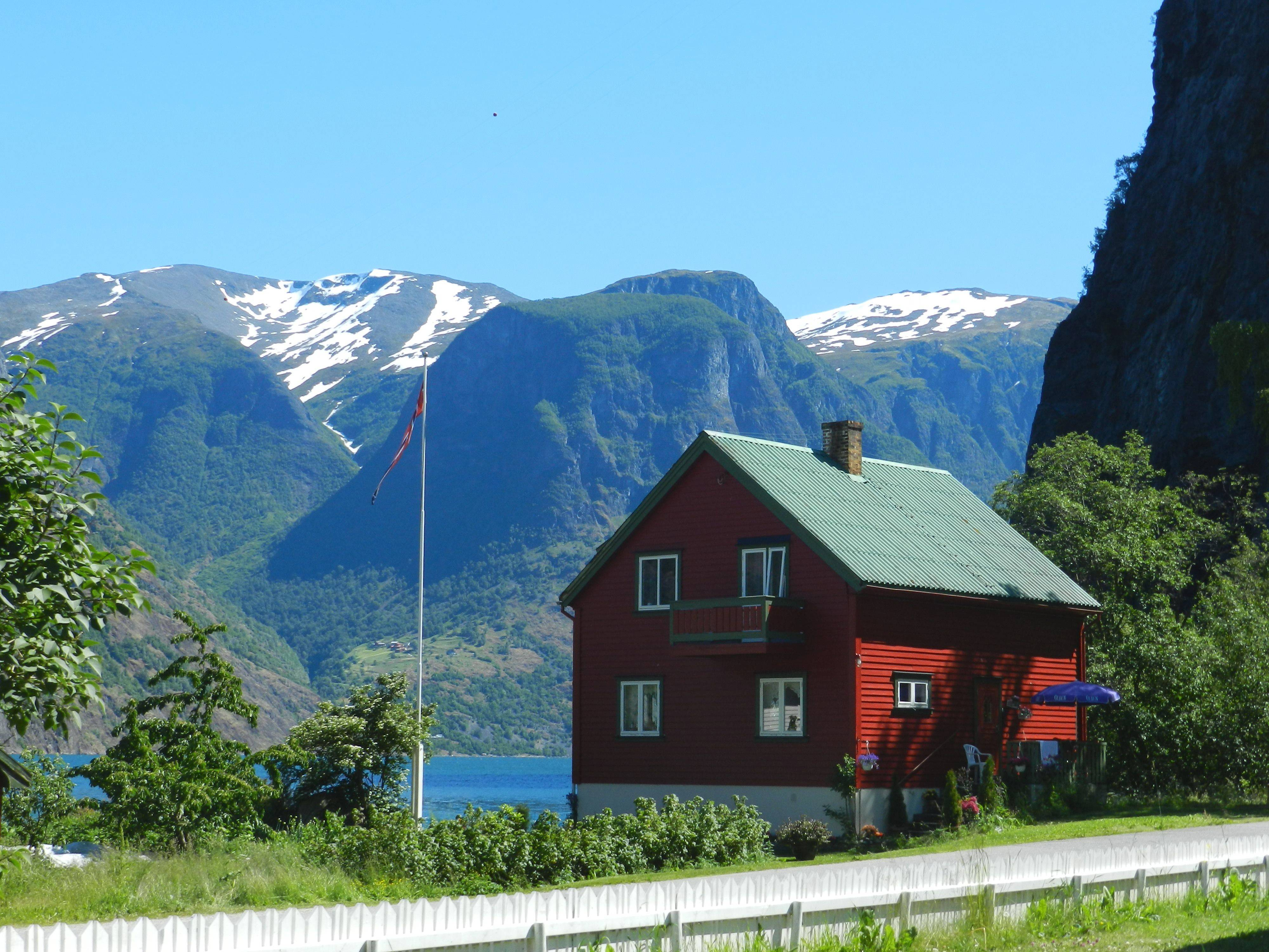 The tiny village of Undredal, population 63, nestled among the fjords of Norway.