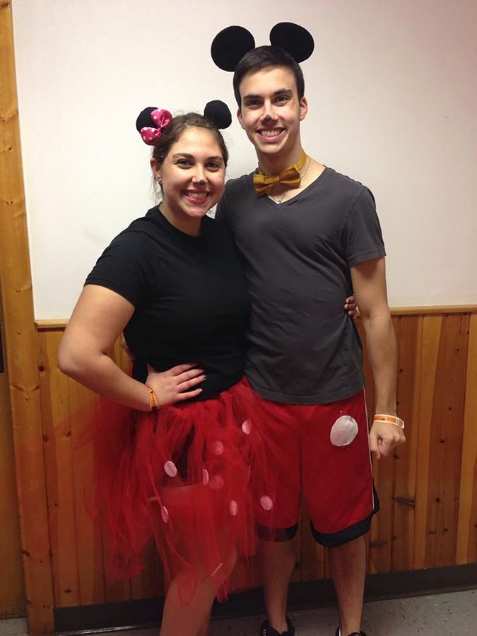 Cara Goldberg and Joel Spiegel dressed as their favorite Disney character at a regional United Youth Synagogue event called CHUSYfest.