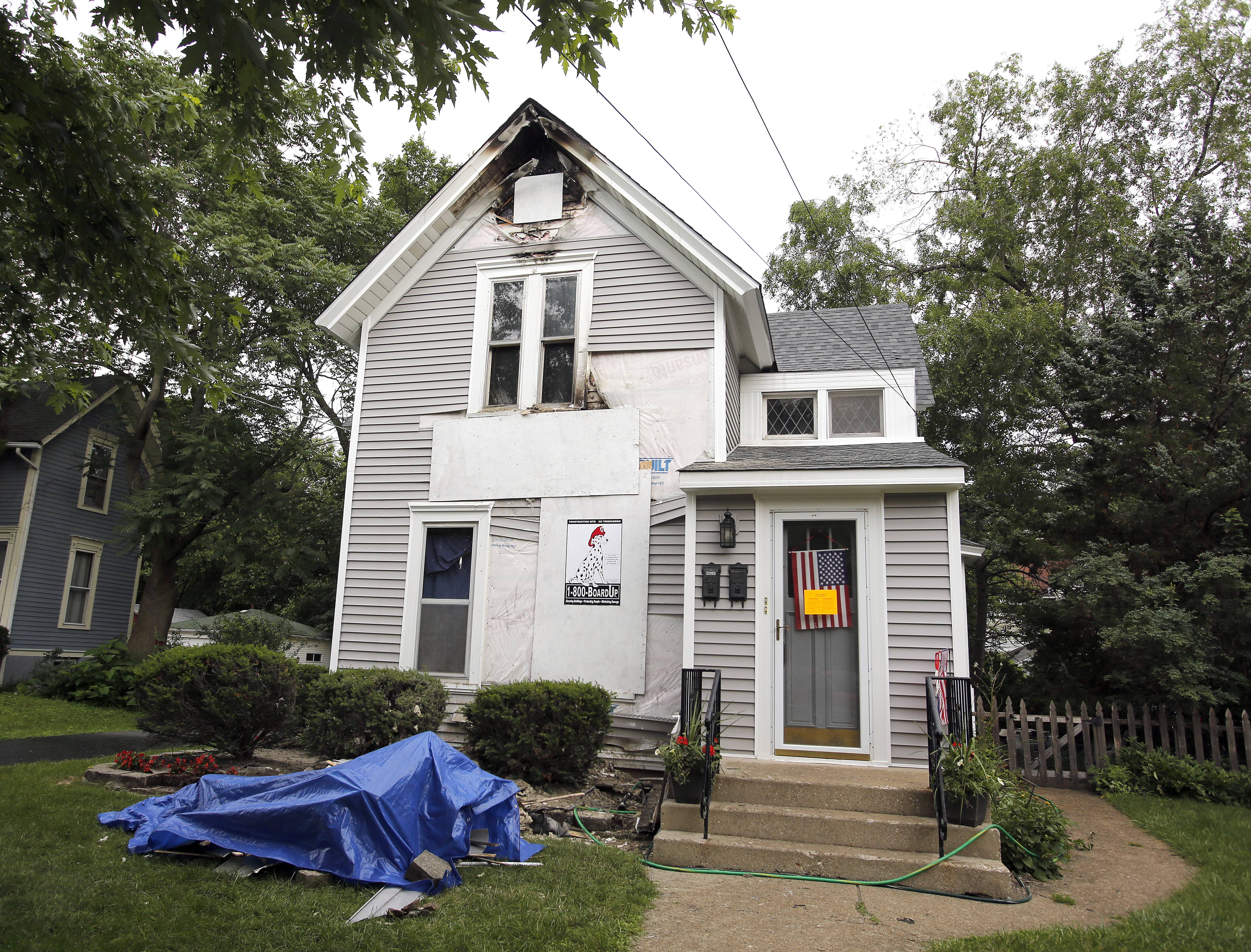 Elgin Fire Department officials said a Thursday blaze at a house on Prospect Boulevard was started by a painter's heat gun.