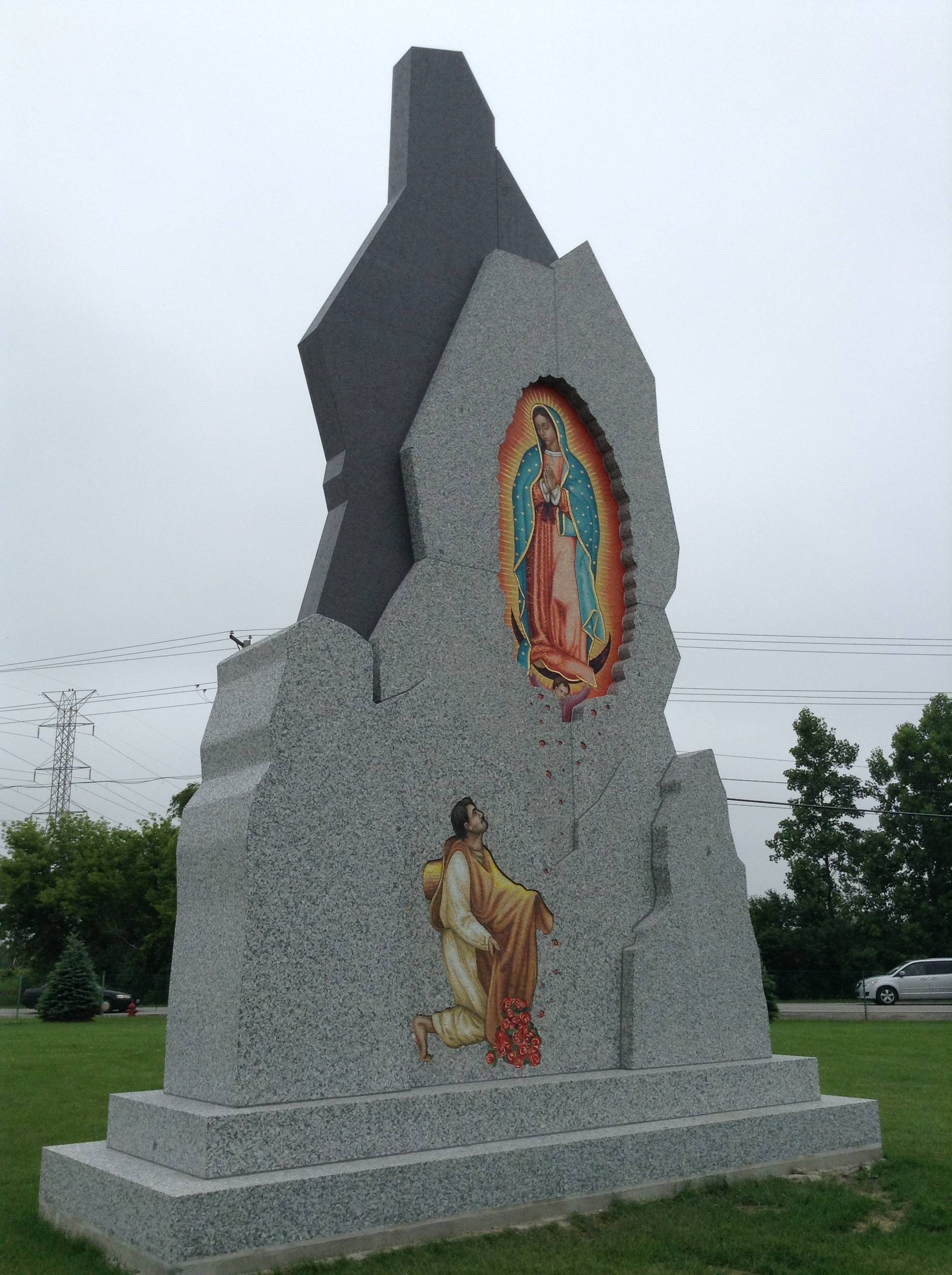 A new Our Lady of Guadalupe statue will be dedicated Saturday morning at All Saints Cemetery in Des Plaines. It is located across the street from the Shrine of Our Lady of Guadalupe on the campus of Maryville Academy.