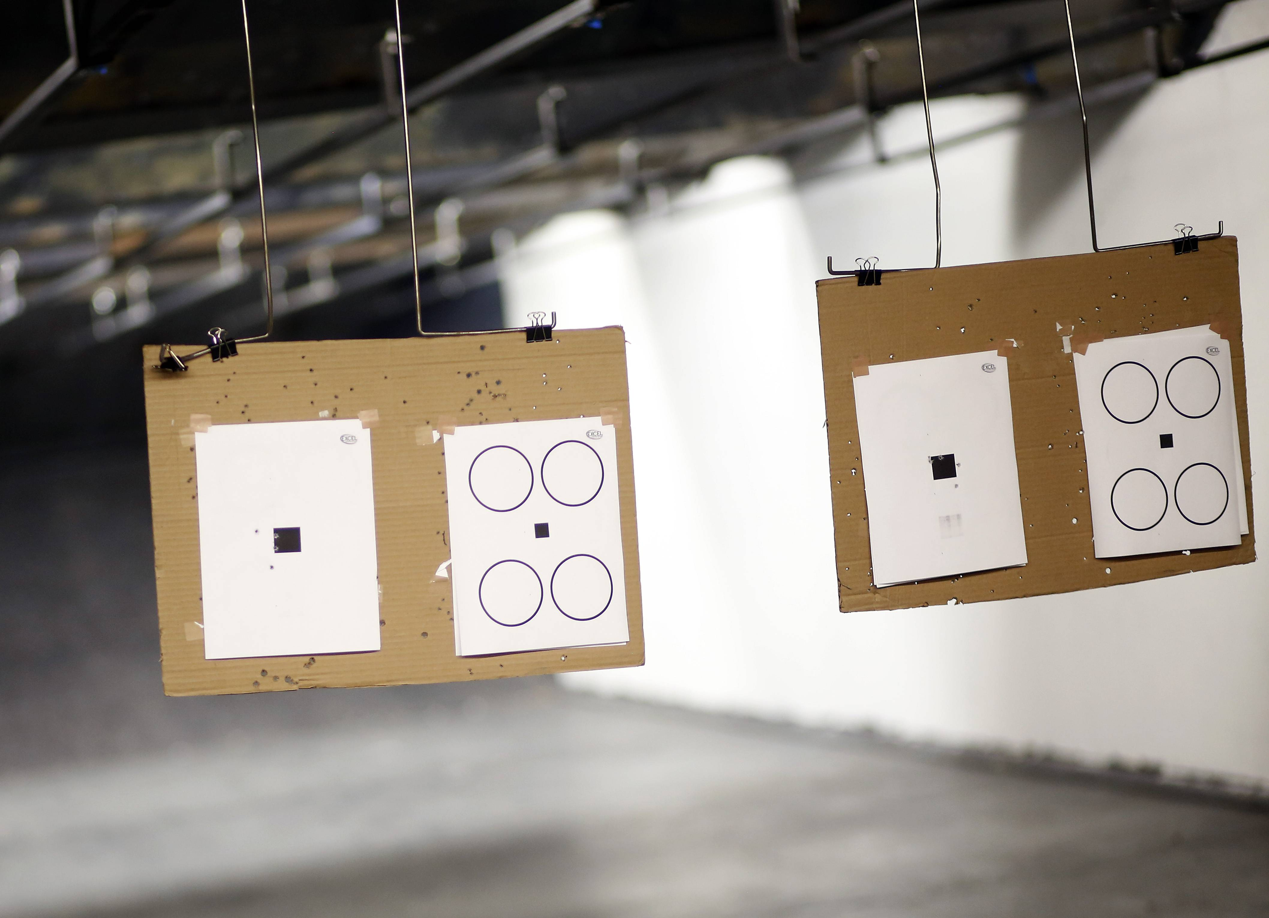 Firearms classes use various targets and .22-caliber Ruger handguns, according to TD Roe, an instructor and competitor.