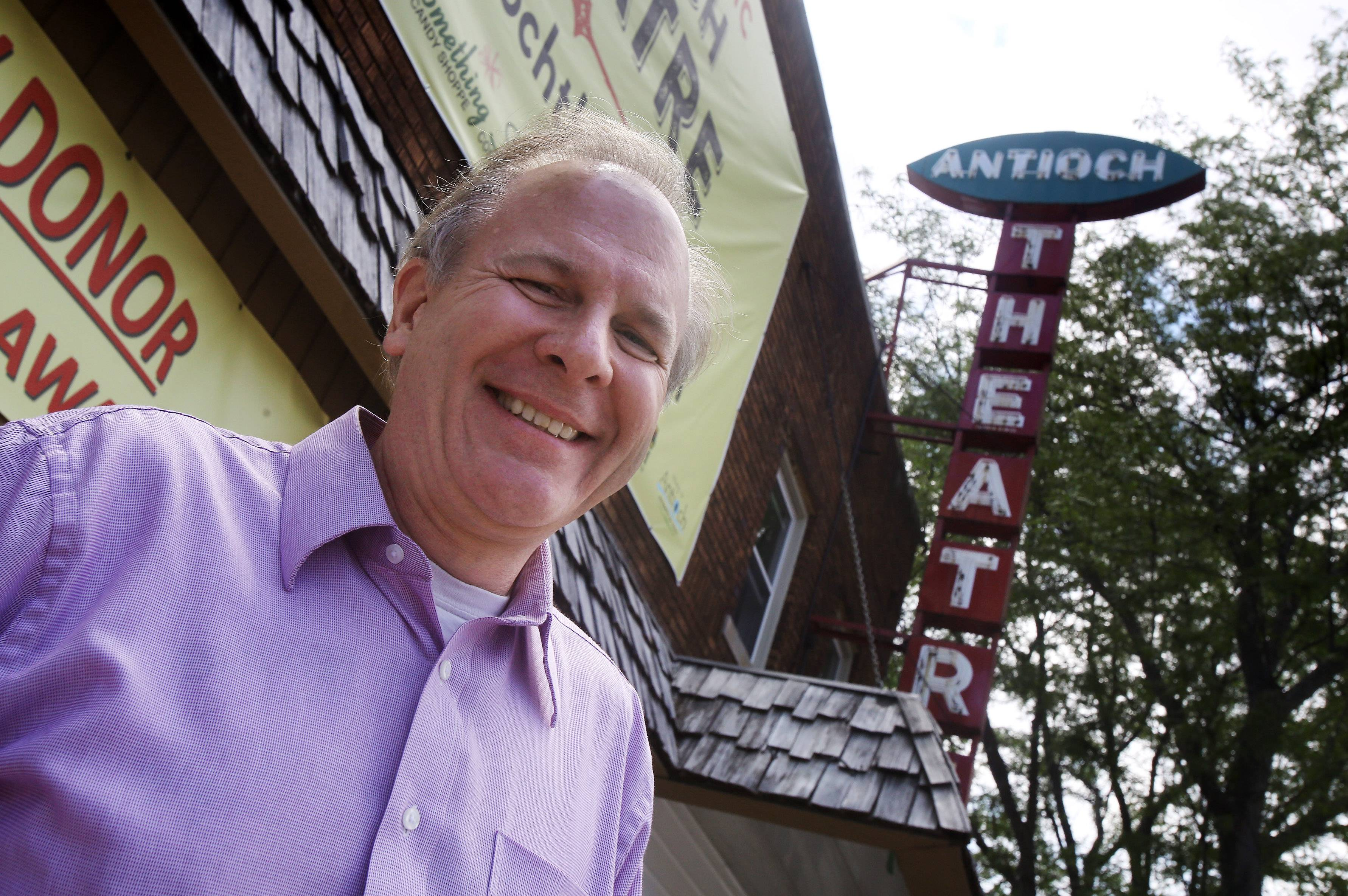 Tim Downey, owner of the 95-year-old Antioch Theater, is trying to save the historic movie house by raising $42,000 for digital film equipment and building renovations by July 31.