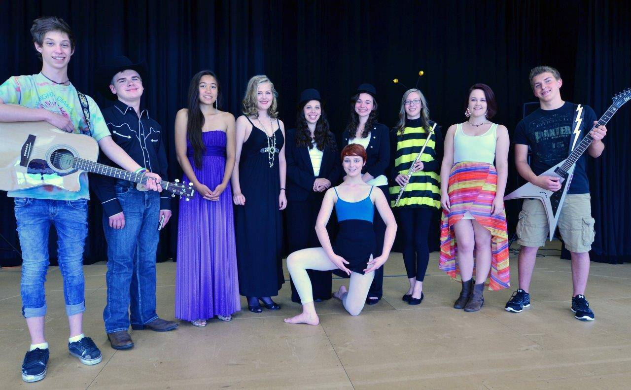 Nine acts will compete in the senior division at the 31st annual Kane County Fair Talent Contest July 14. Pictured are, front, Galina Knorst; back, from left, Sean Seales, Matt Skirmont, Alexis Nguyen, Erin Newman, Lucy Avila, Amanda Maher, Julia LeKander, San Sandberg and Eric Bajorek.