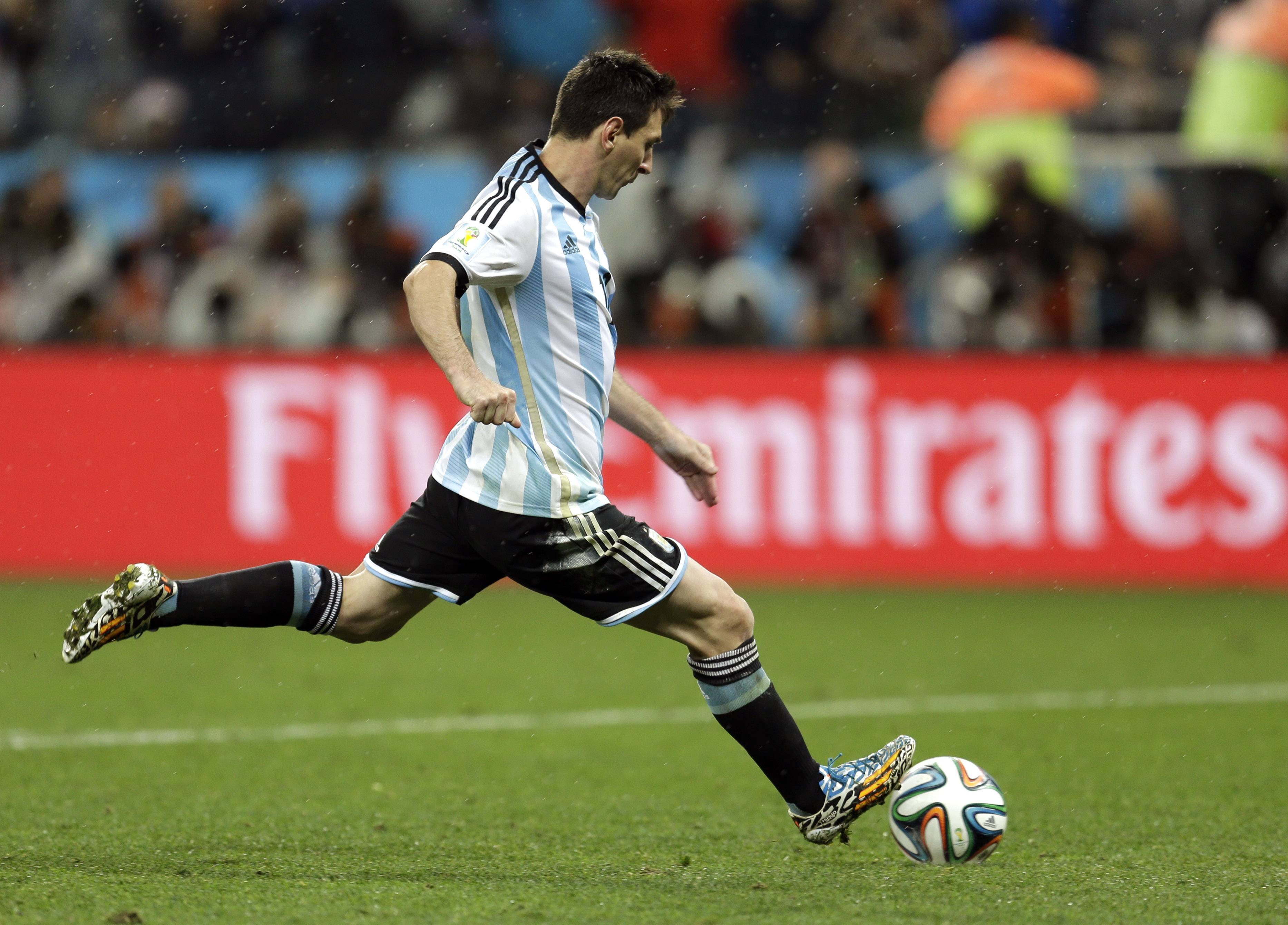 When it comes to free kicks or penalty kicks, Argentina's Lionel Messi has one of the most accurate kicks in soccer. His speed, patience, intelligence and balance also set him apart.