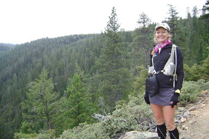 Juli Aistars of Lake Zurich during the Western States 100-mile trail run. The oncology nurse currently is running a 314-mile race through Missouri, Tennessee and Georgia to raise money for Northwest Community Hospital's lung program.