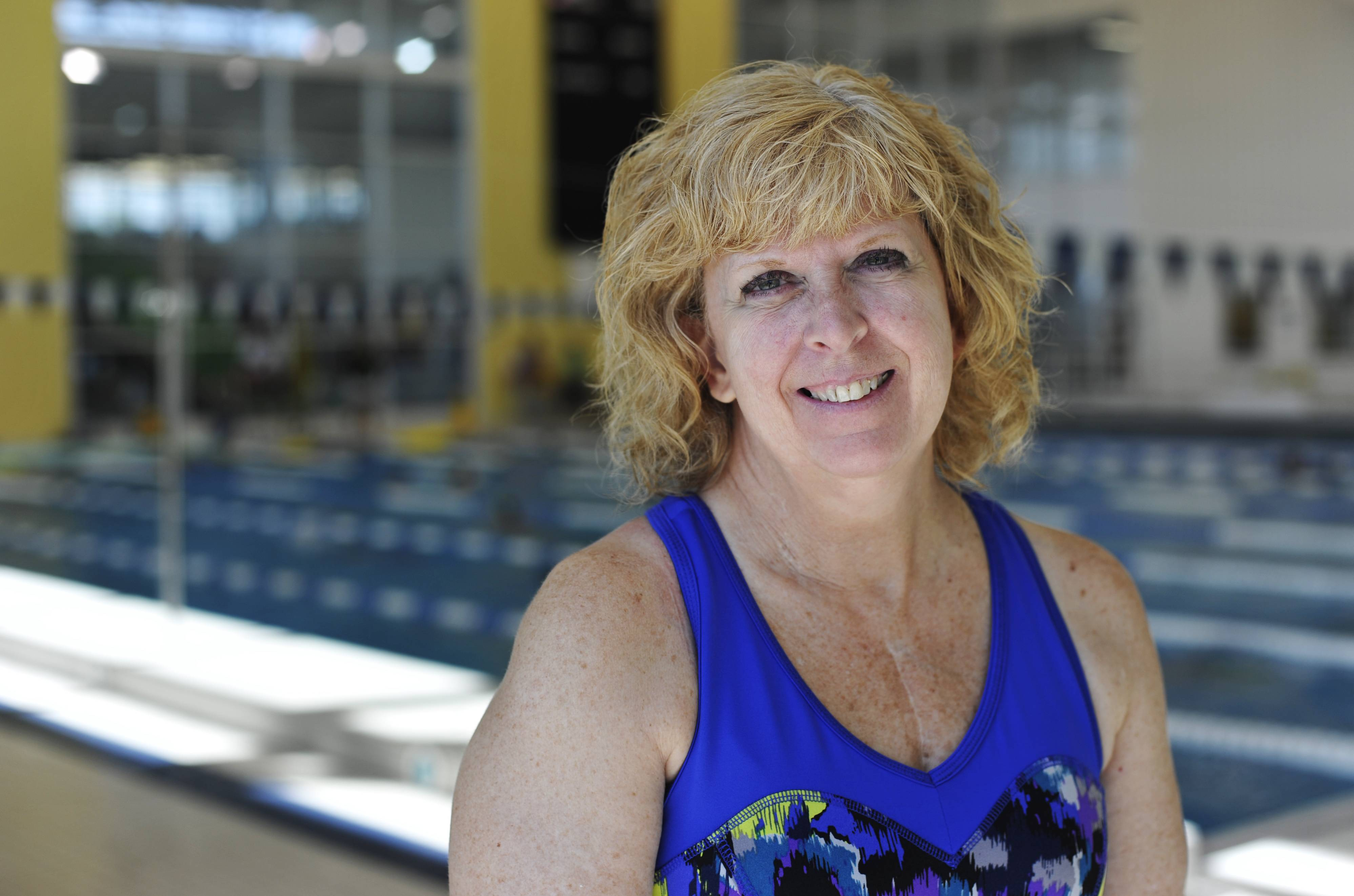 "After hours of swimming laps at the Vaughn Athletic Center pool in Aurora, Donna Stout of Batavia is vying today for a medal at the Transplant Games of America in Houston. That wouldn't be possible without the new heart she received in 2007 through organ donation. ""Life is amazing,"" Stout says, ""and after transplant, you can get back to normal."""