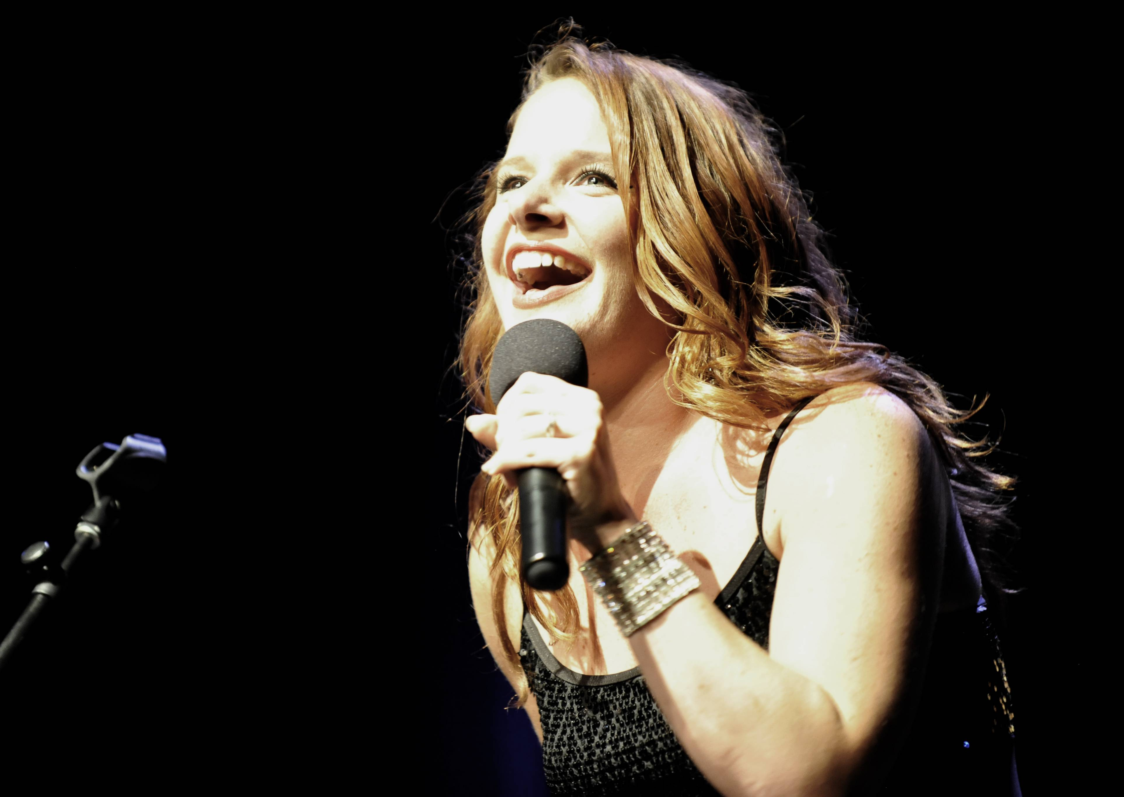 Rachel McPheeters performs at the Suburban Chicago's Got Talent top 15 competition at Prairie Center for the Arts in Schaumburg on Sunday.