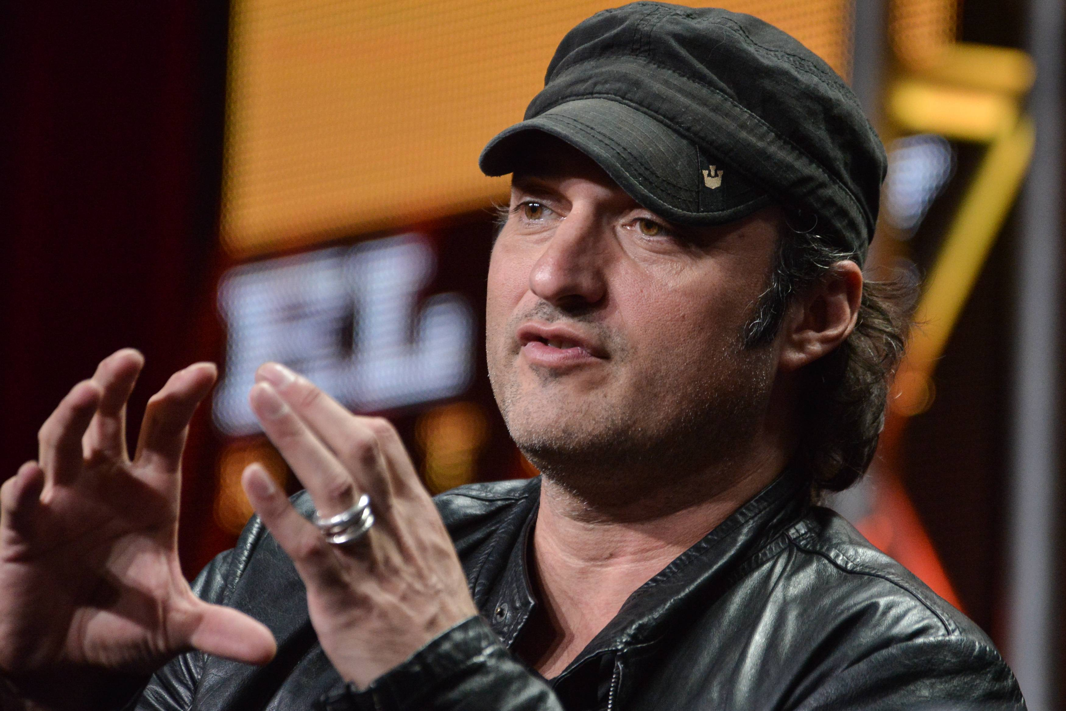 "Robert Rodriguez speaks onstage during the ""Matodor"" segment of the El Rey Network 2014 Summer TCA on Thursday, July 10, 2014, in Beverly Hills, Calif."