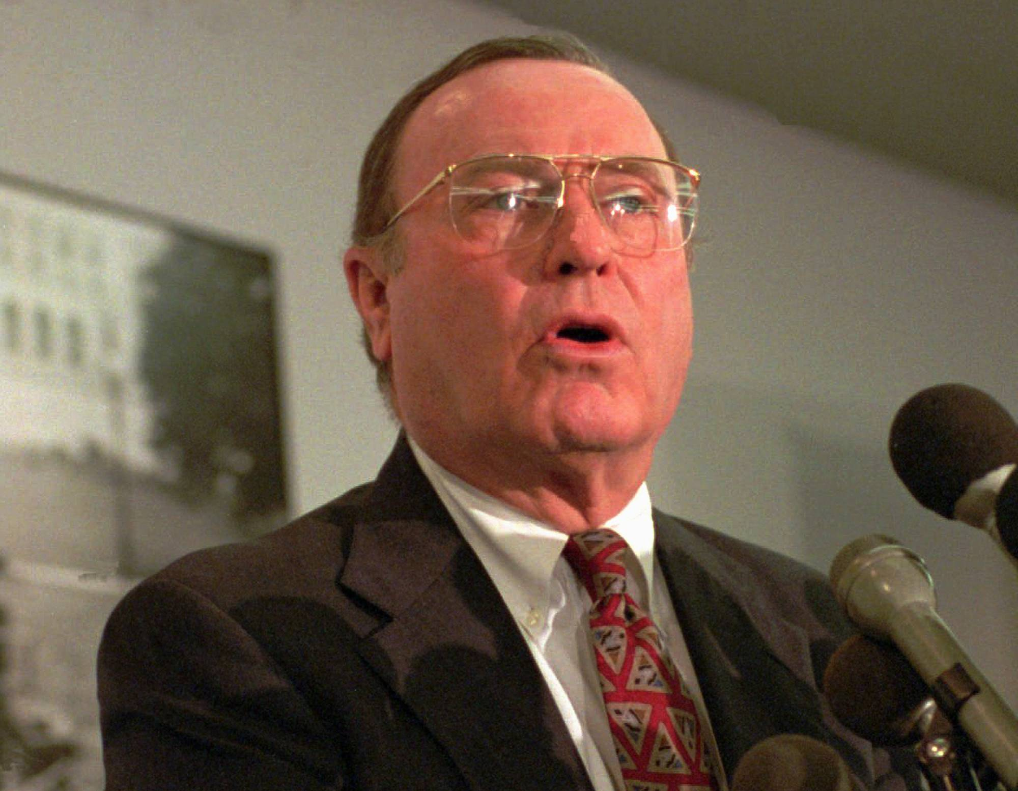June 30, 1995 photo, U.S. Sen. Alan Dixon.