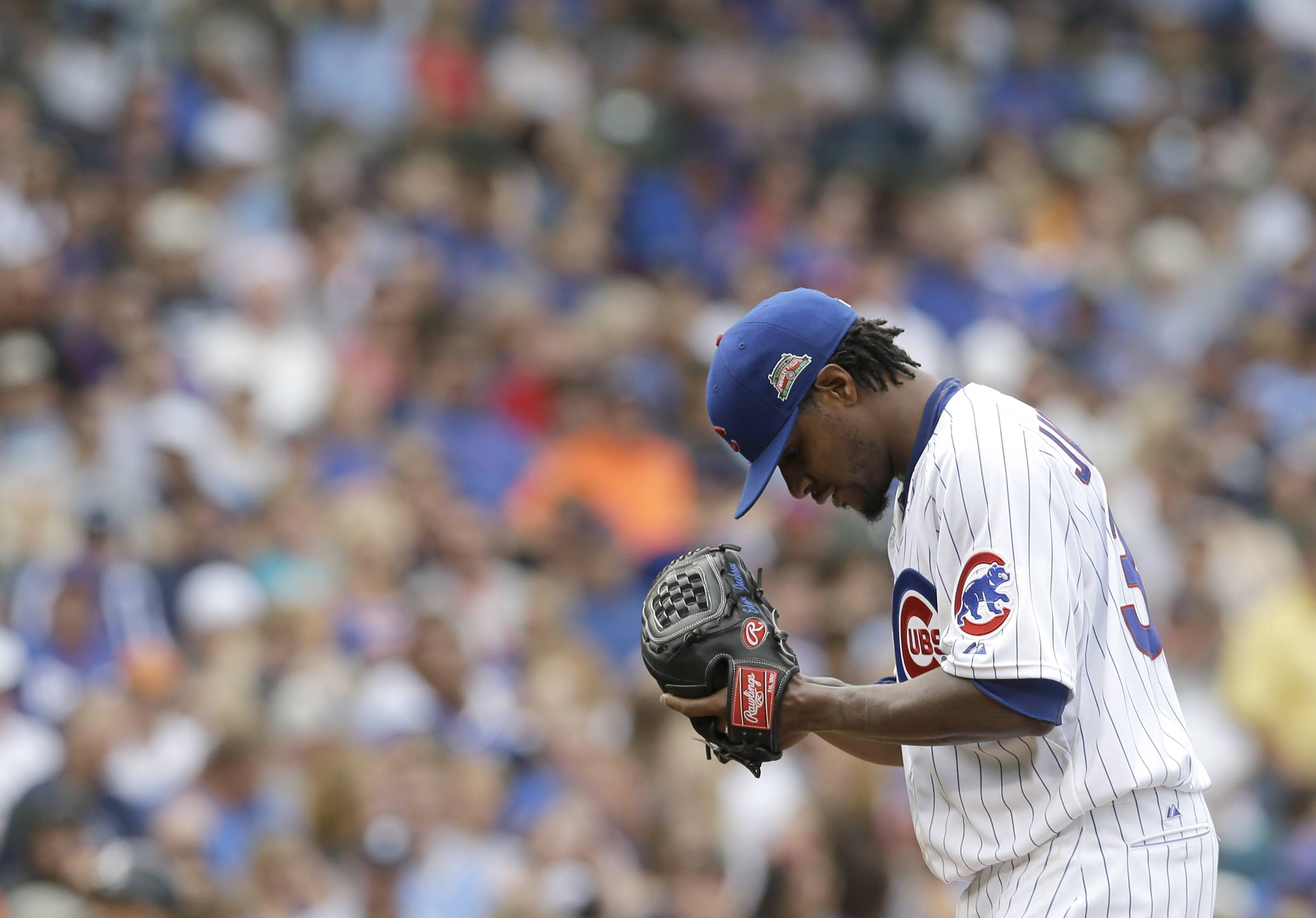 Edwin Jackson is 13-28 as a Cub since signing a four-year contract last season.