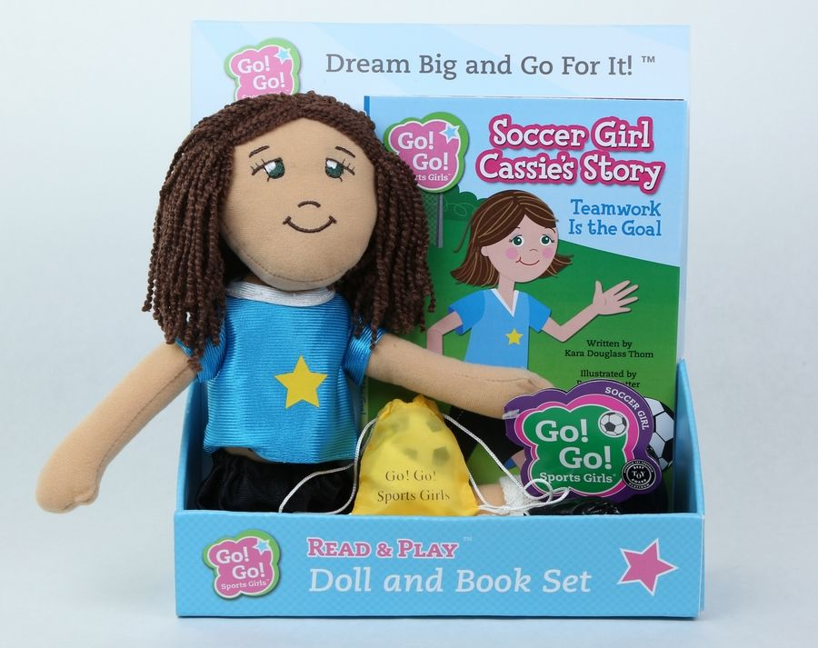 Courtesy of Dream Big Toy CompanyA soccer doll and book made by Dream Big Toy Company.