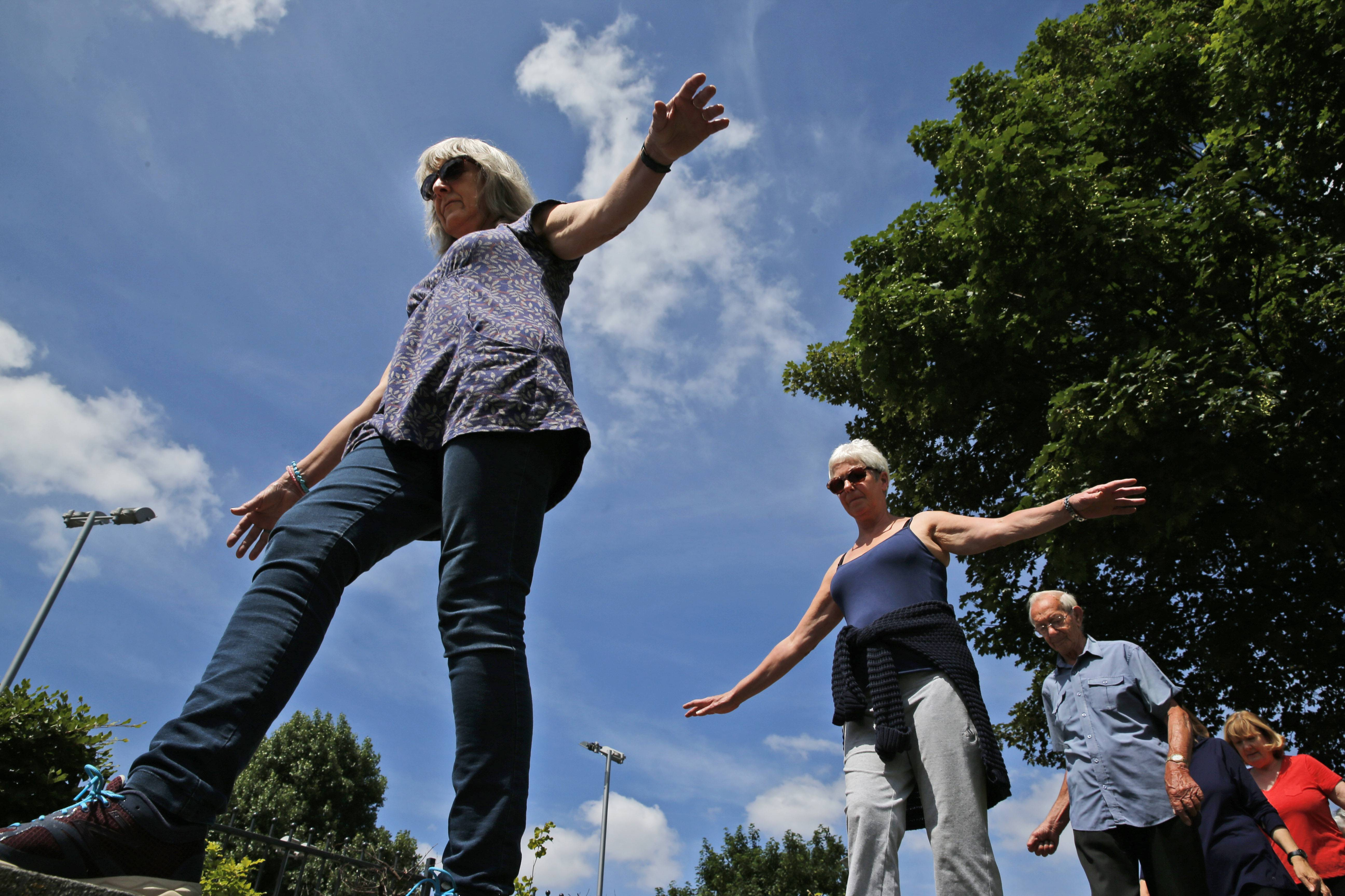 Participants take a unique weekly class for people age 60 and older called parkour, a flashy discipline usually known for its acrobatic running, climbing and gravity-defying jumps.