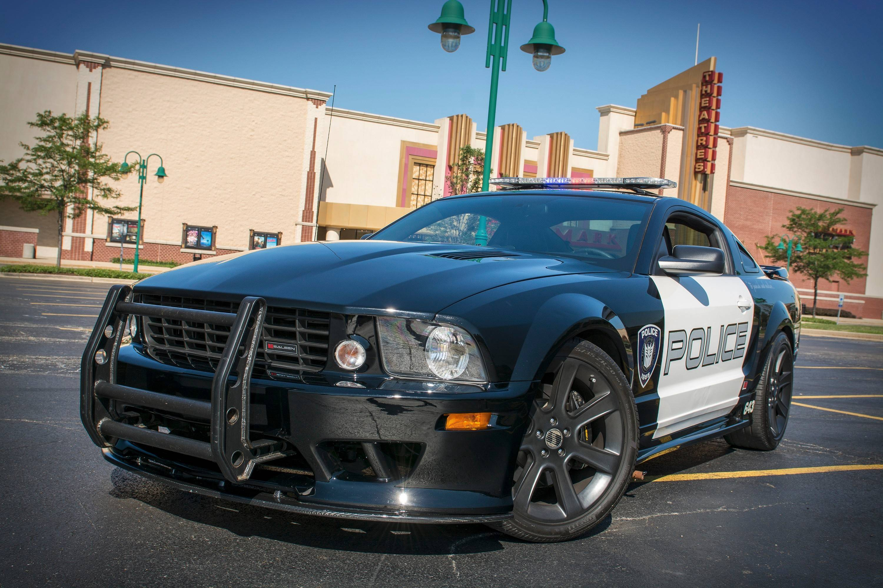 """Barricade,"" from the movie ""Transformers,"" a 2005 Ford Mustang Saleen S281."