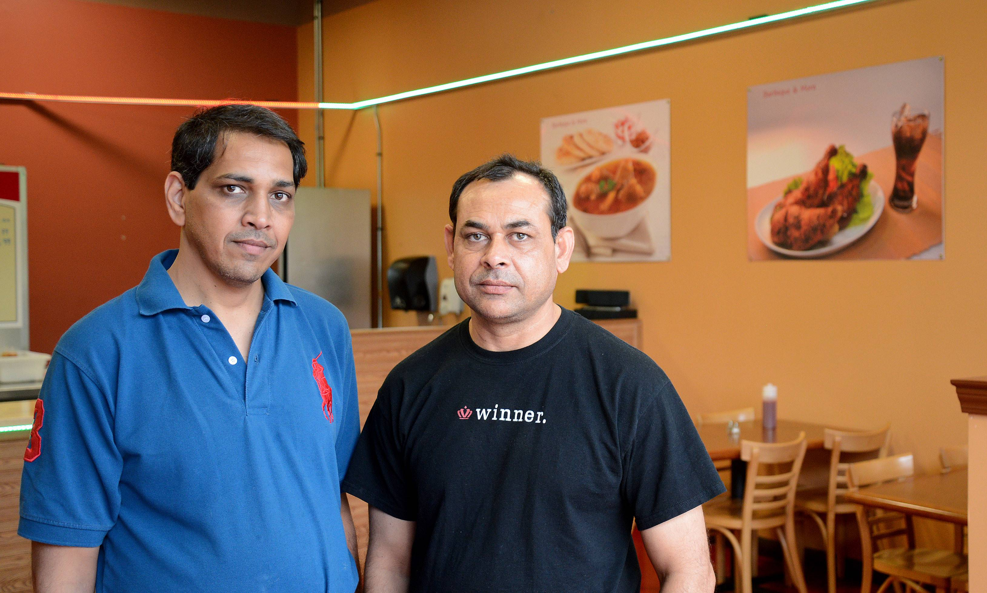Brothers Shakil Hussain, left, and Ashraf Hussain are owners of Barbeque & More, a new restaurant in Algonquin.