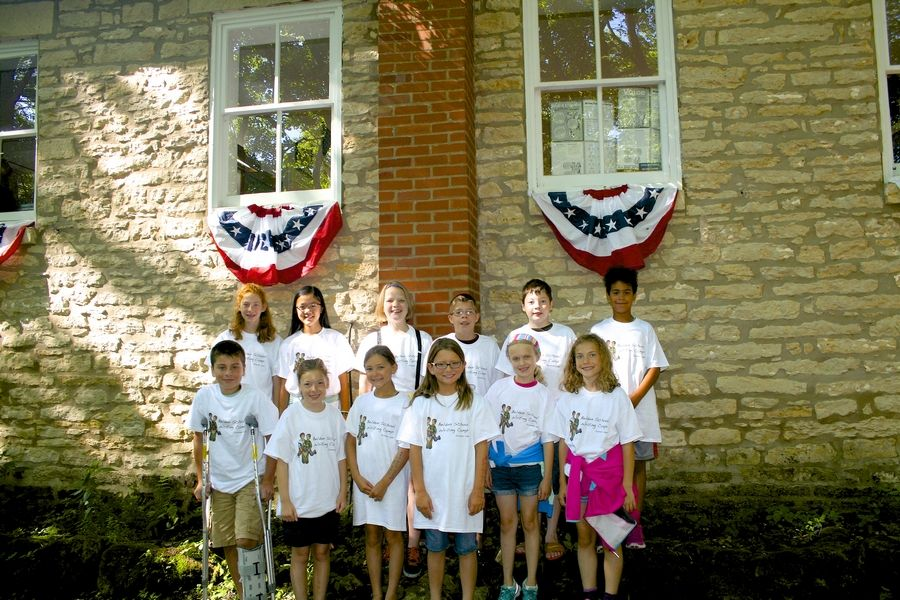 Children from District #41 Glen Ellyn attended the Galena writing camp in a one room schoolhouse known as Belden School!PJ HarteNaus