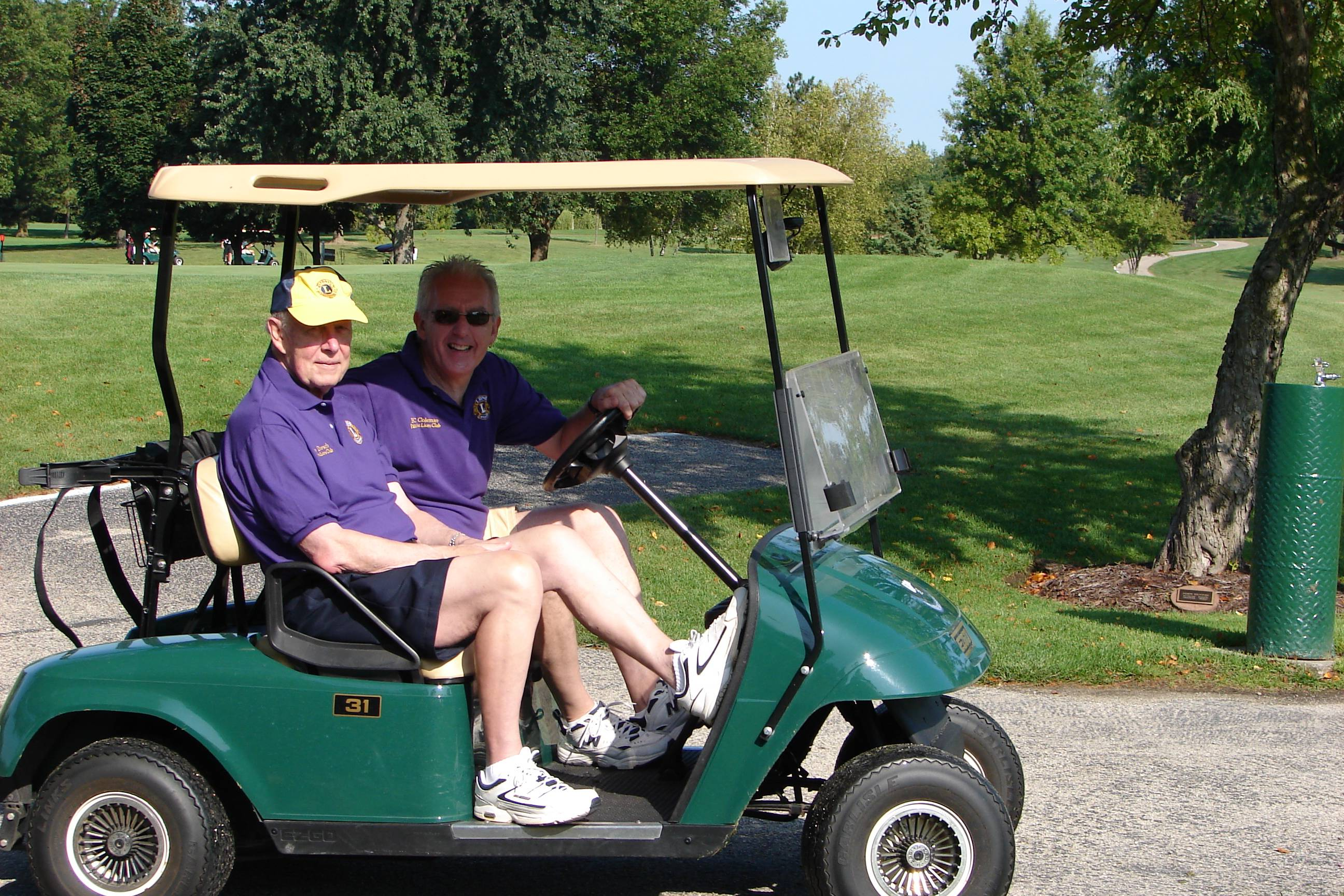 Palatine Lions Golf Outing founder, Tom Dorsch (L) and Club Member BC Coleman (R)at a previous Outing.Paul Pioch