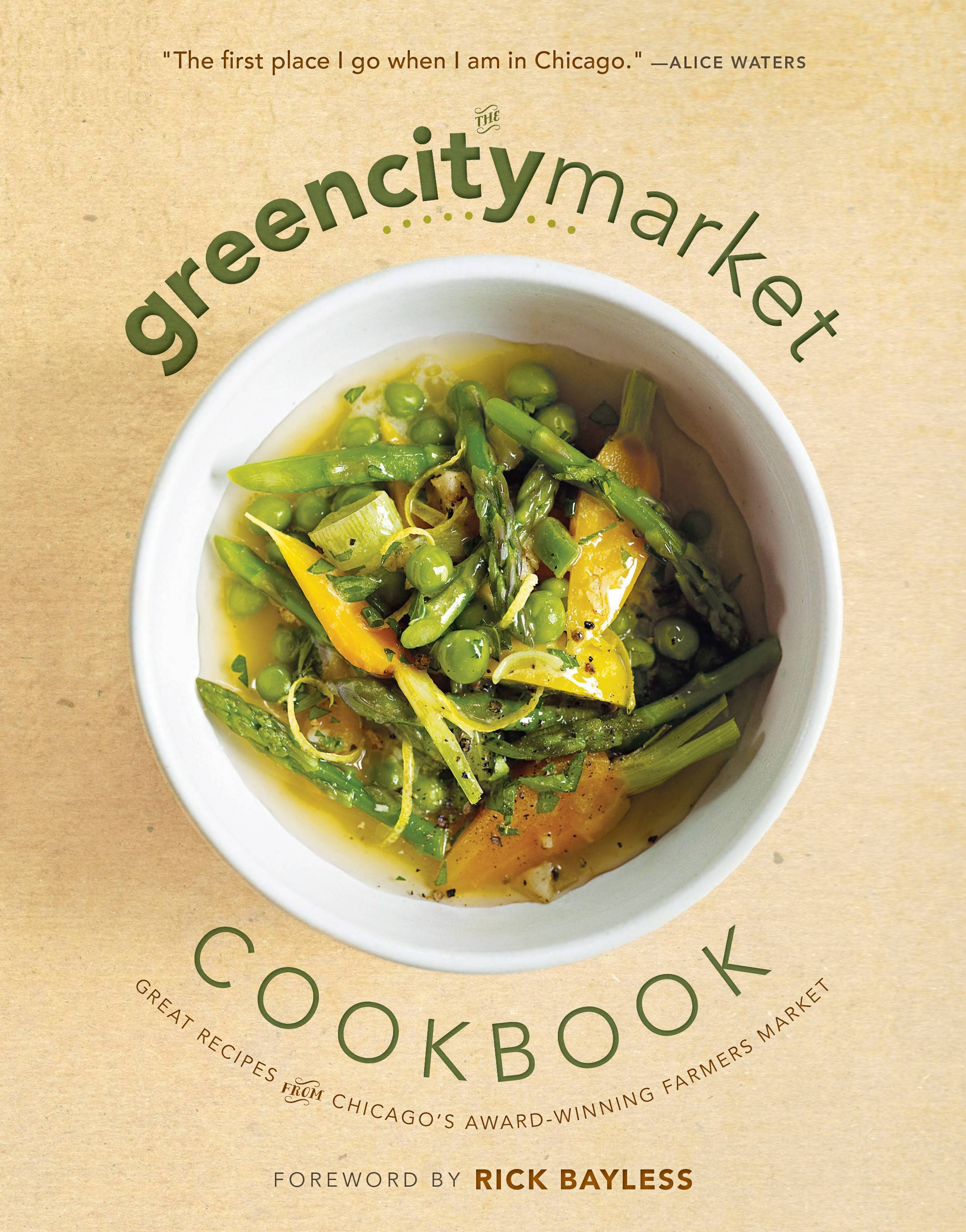 "Proceeds from sales of ""The Green City Market Cookbook"" (2014 Midway) benefit the local, sustainable farmers market that has operated in Chicago since 1998."
