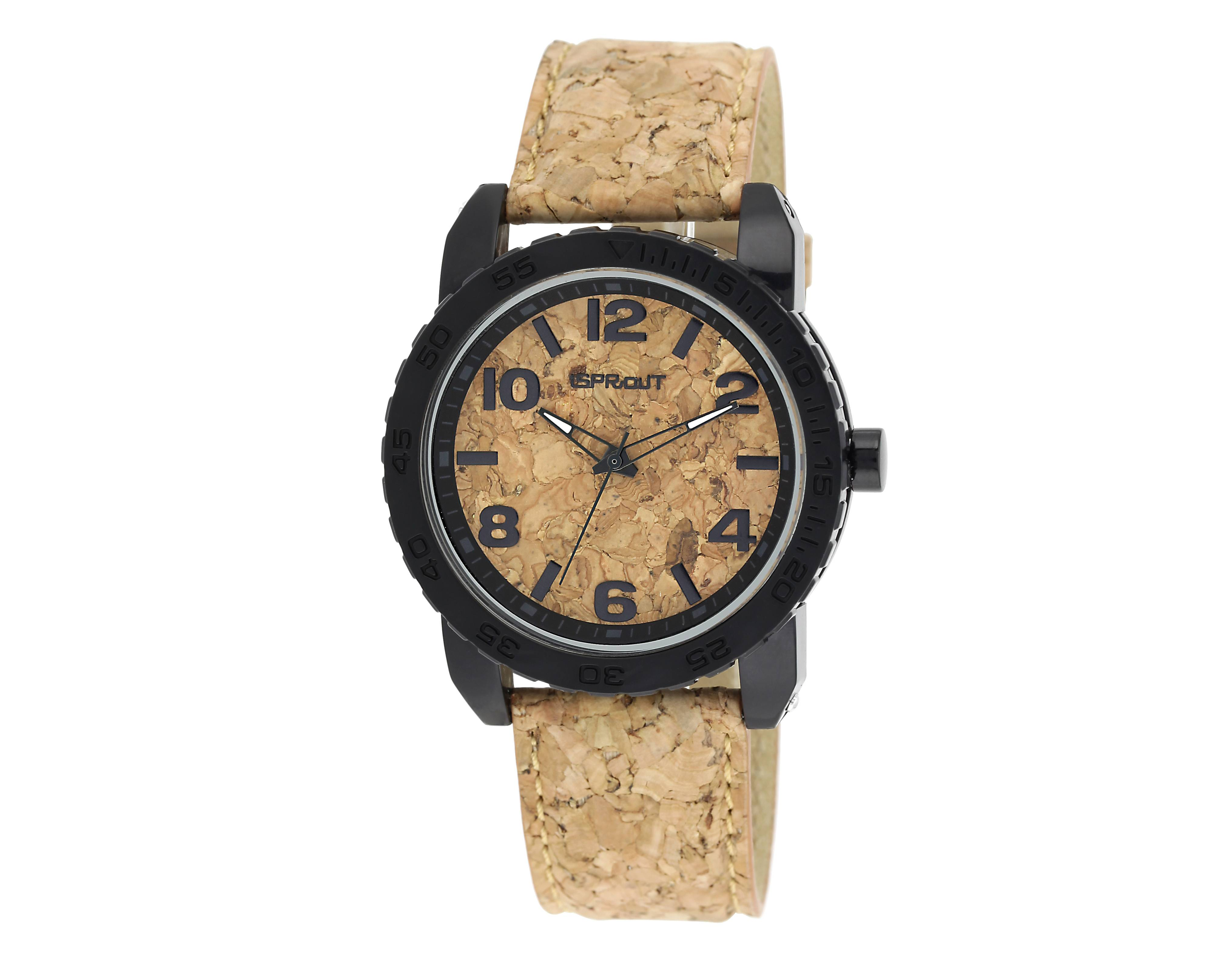 This watch from Sprout Watches is made of natural cork.