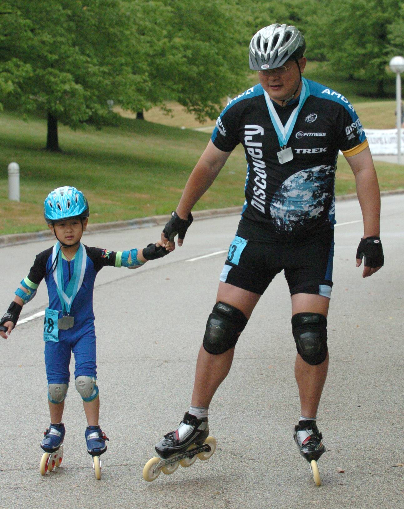 The 2011 Alexian Brothers Fitness for America Sports Festival in Hoffman Estates was a family affair for Shu Li and his son, Jaylin Li. The fest returns for its sixth edition this weekend.