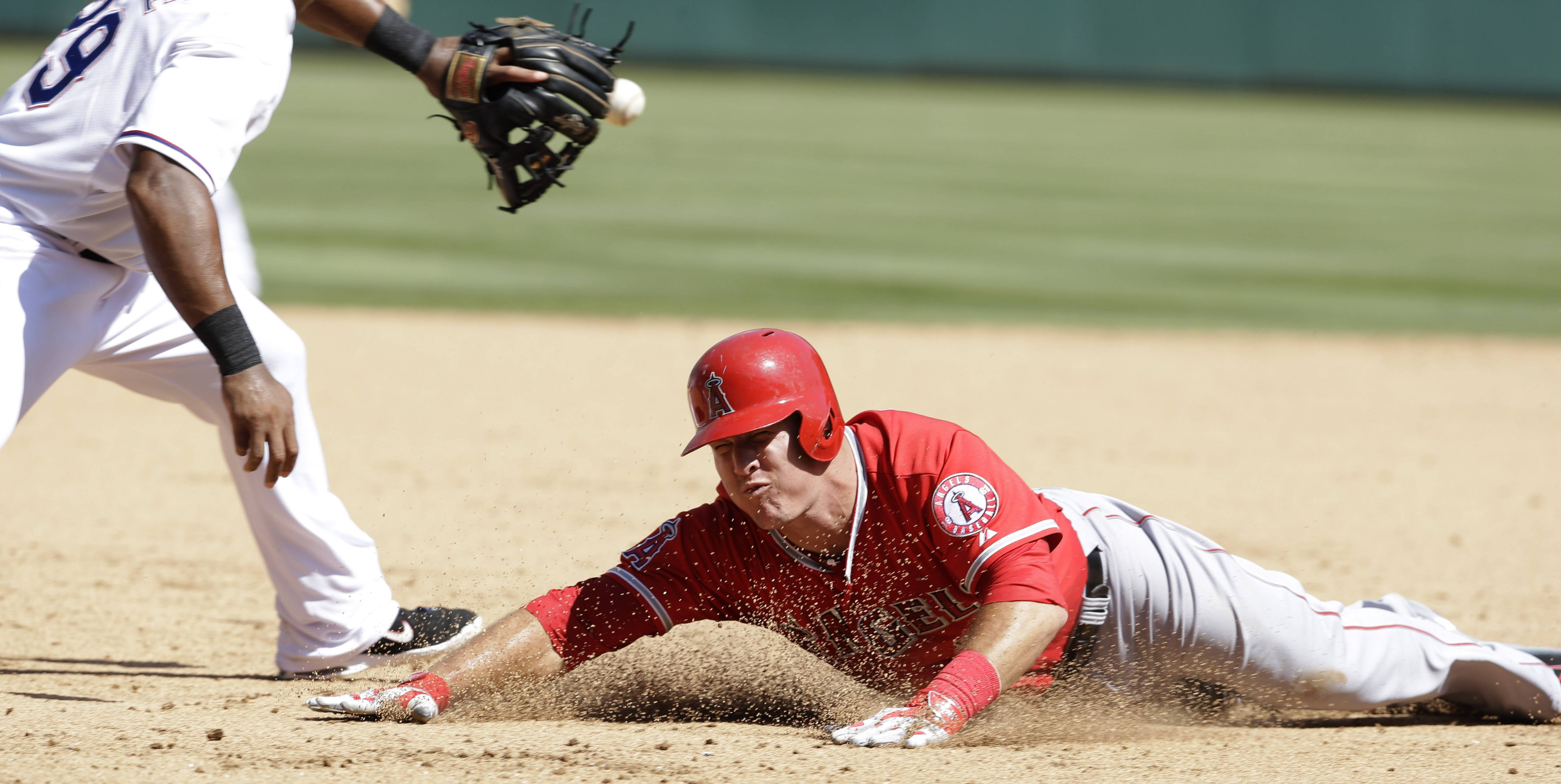 At the all-star break, the Angels' Mike Trout is hitting .310 with 22 HRs and 73 RBI.
