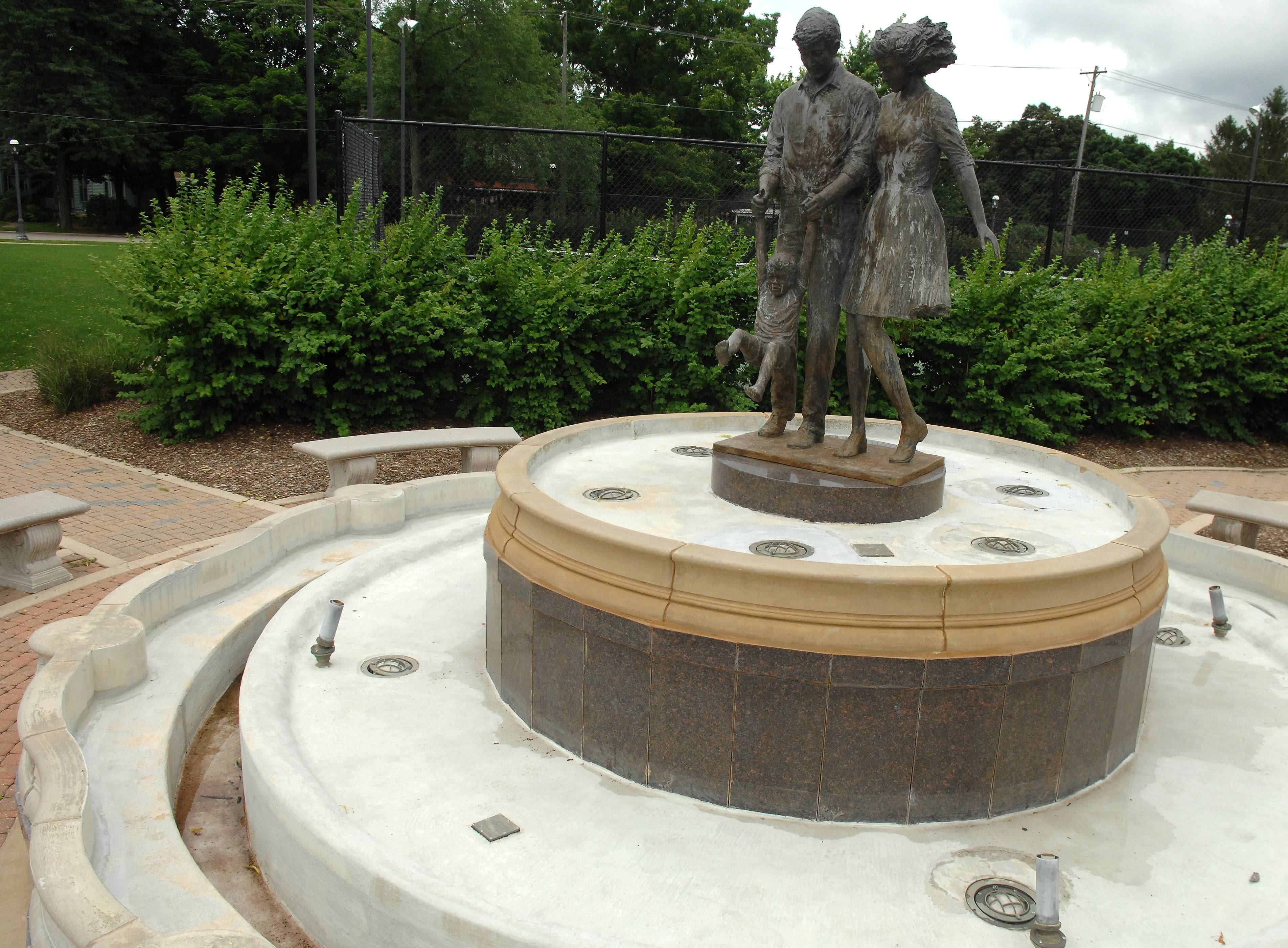 The fountain in Grafelman Park in West Dundee is slated for repair and should be in working order soon, according to village officials.