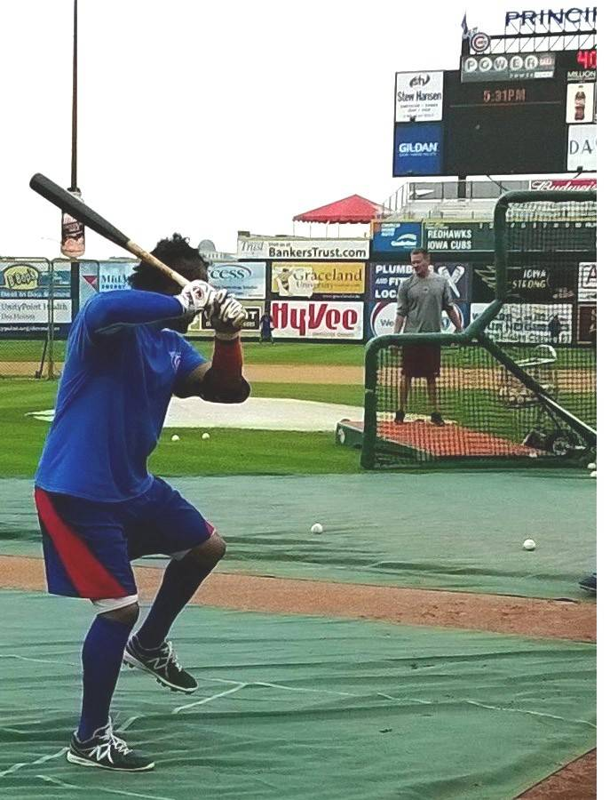 In his role as a player/coach for the Iowa Cubs, Manny Ramirez is struggling a bit at the plate (.222 BA in 27 at-bats), but Cubs prospects say his advice is hitting its mark.