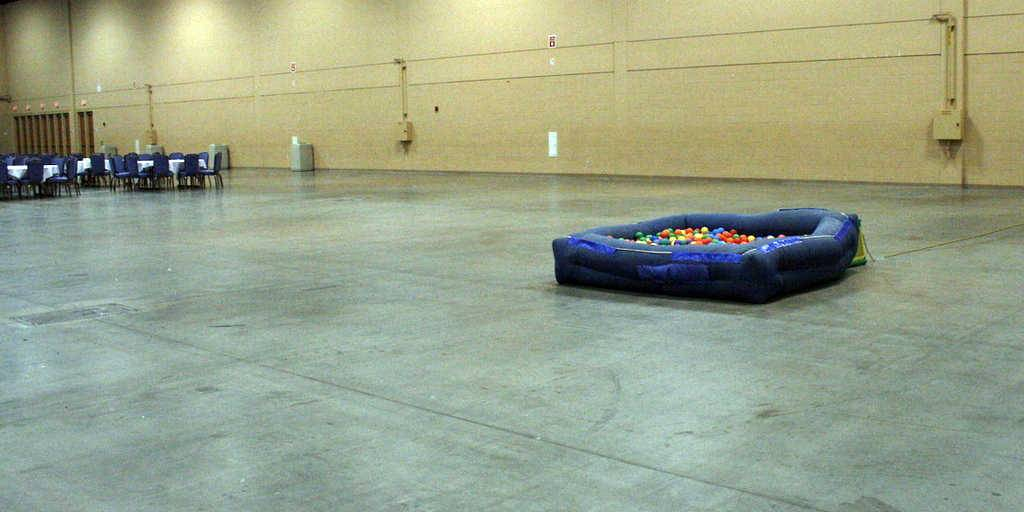 The tiny inflatable ball pit at DashCon 2014 in Schaumburg that launched a thousand parodies on social media. The ball pit has become emblematic of the troubles faced over the weekend by organizers and attendees of the social media convention last weekend at the Schaumburg Convention Center.