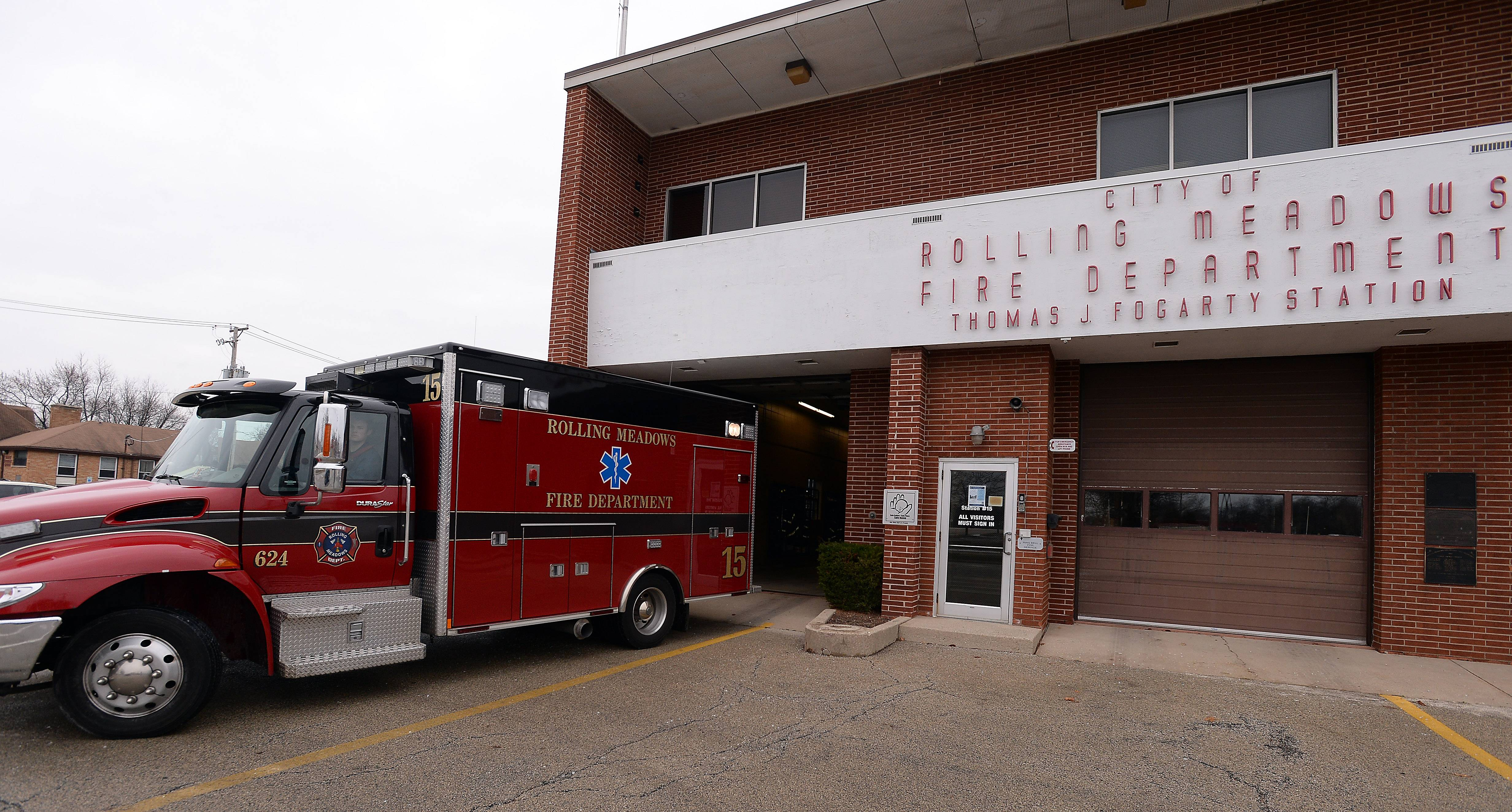 This Rolling Meadows fire station was built in 1958 and was named for the long-time fire chief, from 1958 and 1977.