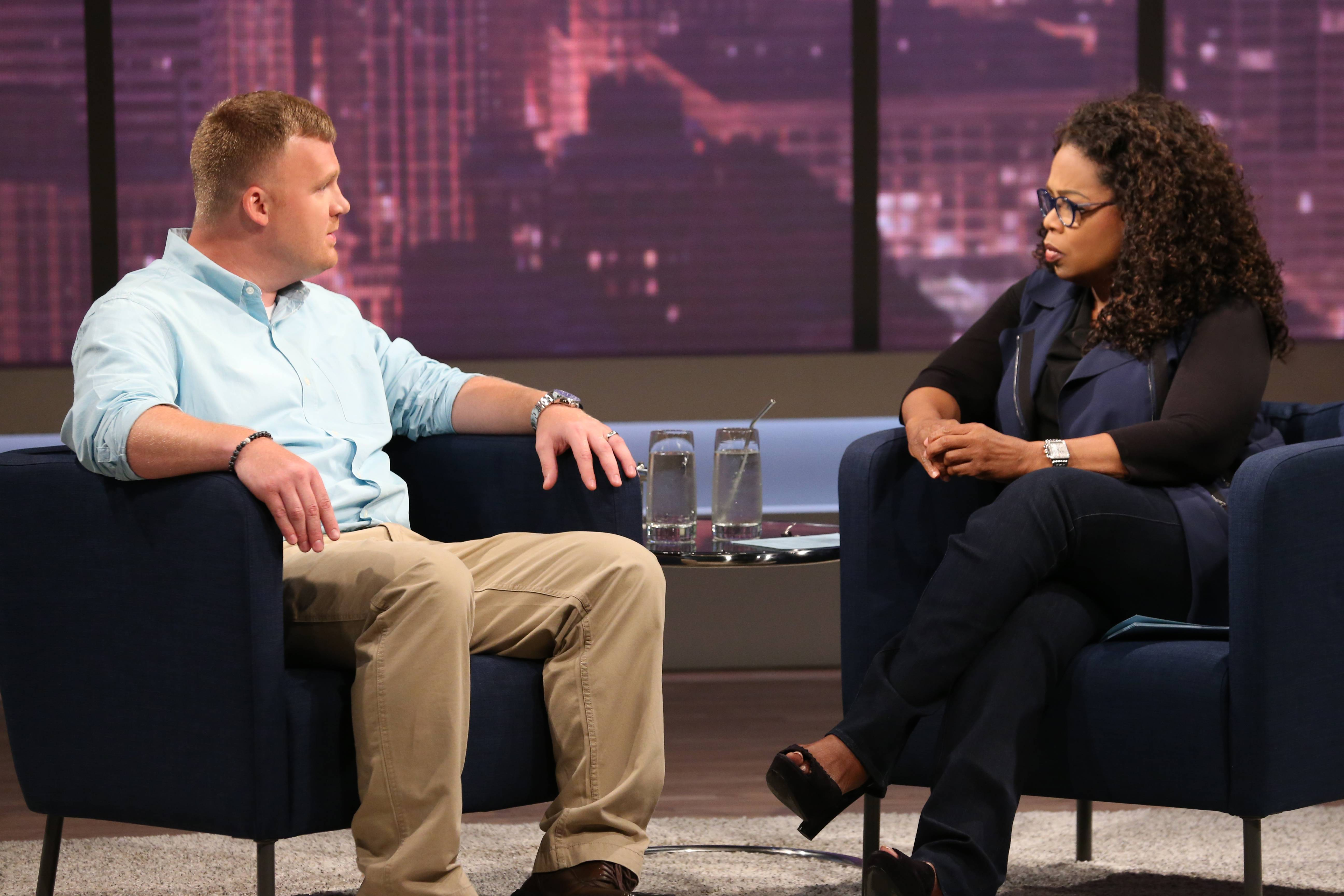 Matt Sandusky, the adopted son of former Penn State University assistant football coach Jerry Sandusky, during an interview with Oprah Winfrey, airing on OWN on Thursday, July 17.