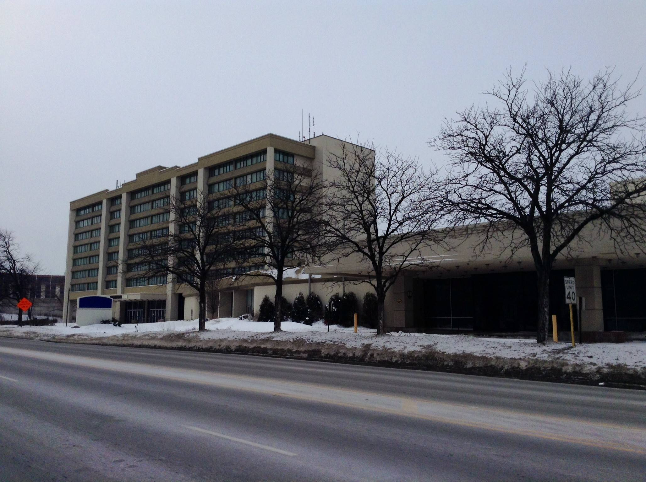 The former Wyndham O'Hare hotel at 6810 N. Mannheim Road in Rosemont is being redeveloped into two separate hotels: a La Quinta and a Hyatt Place.