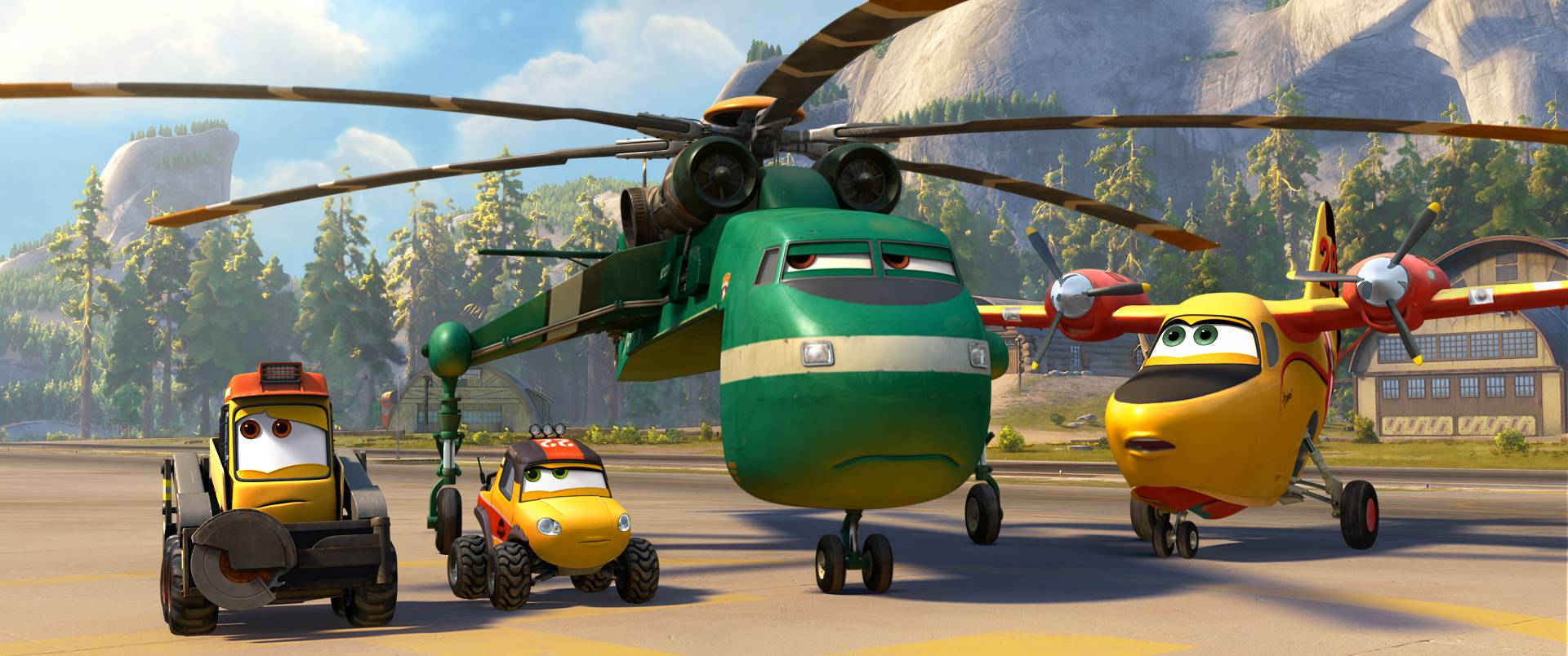 "Windlifter the helicopter (Wes Studi) takes over as boss of the rescue team in ""Planes: Fire & Rescue."""