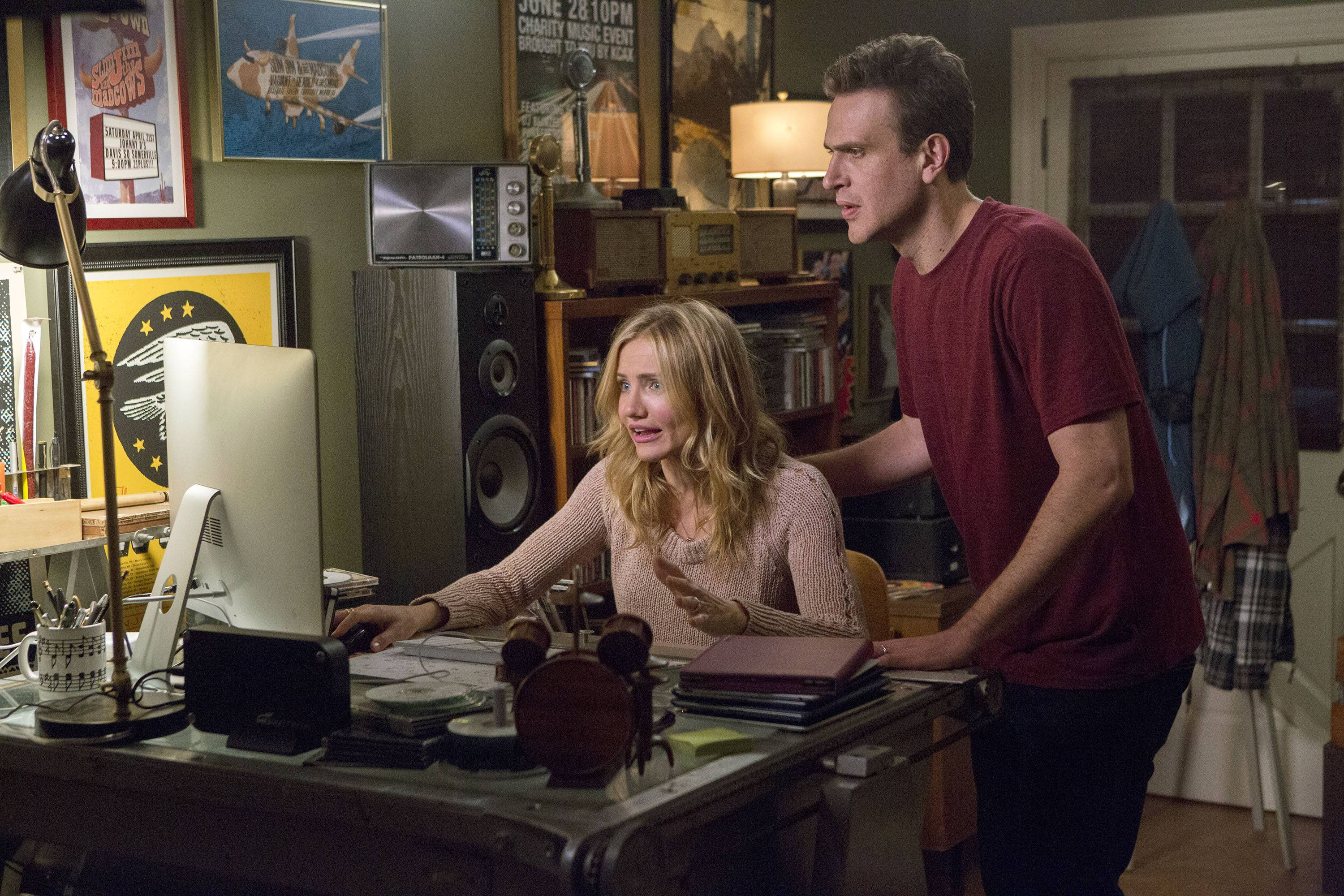 "A plan by Annie (Cameron Diaz, left) and Jay (Jason Segel) to spice up their marriage goes awry in ""Sex Tape."""