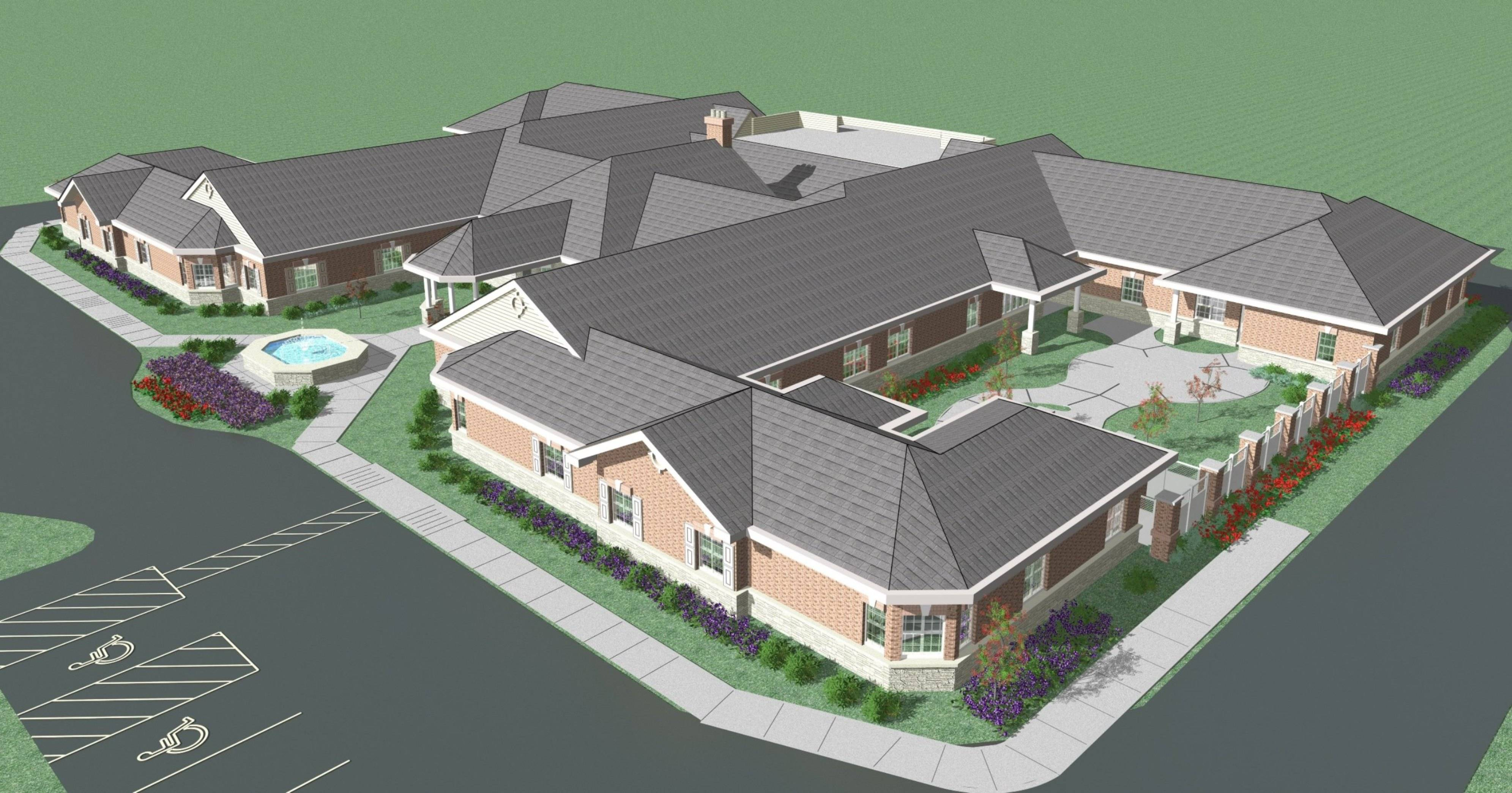 A rendering of the Autumn Leaves of Gurnee residence.