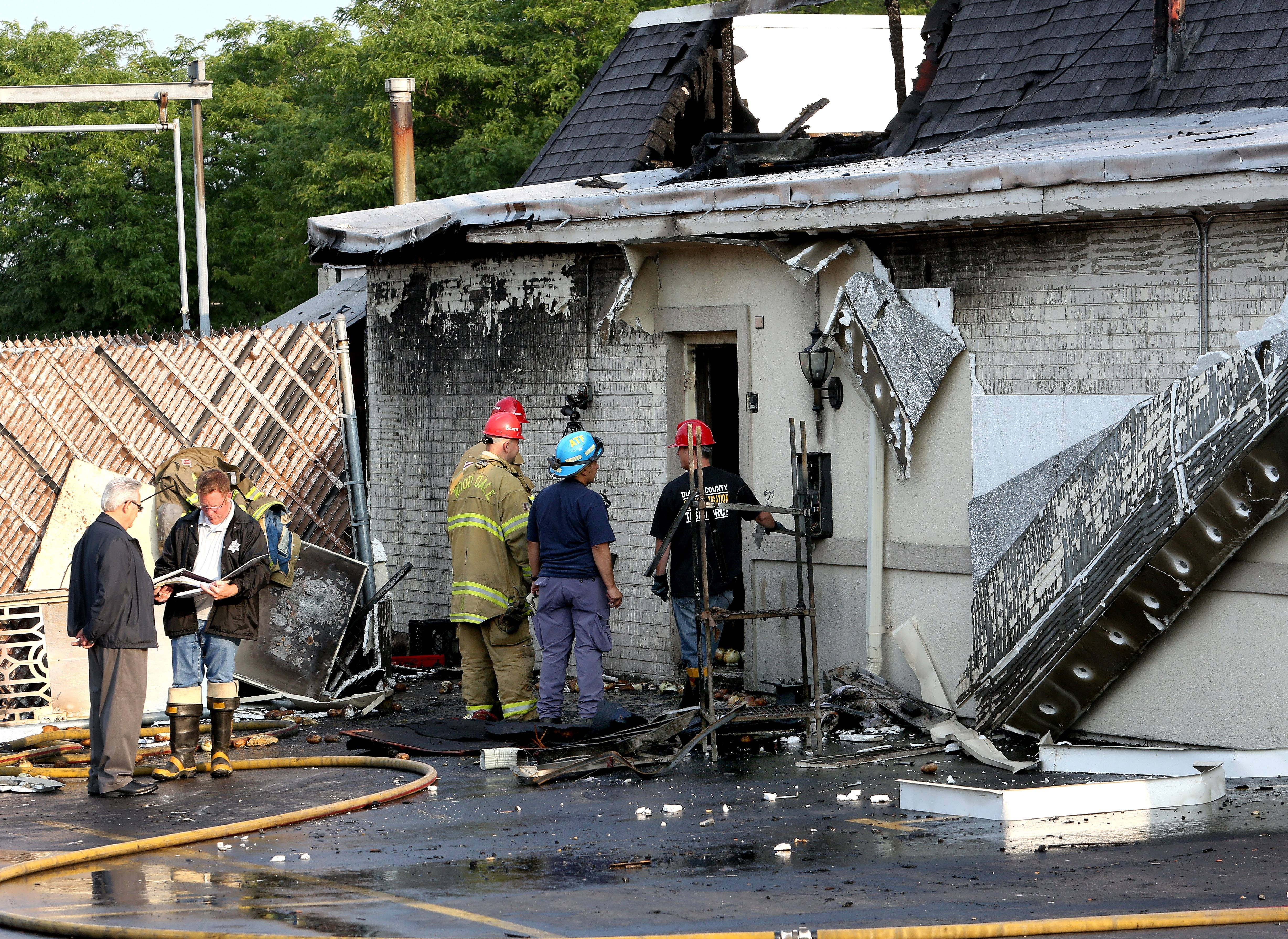 Naperville firefighters are investigating the cause of an early morning fire that caused extensive damage Friday to an Ogden Avenue restaurant. No injuries were reported in the blaze that was first spotted around 2:15 a.m.