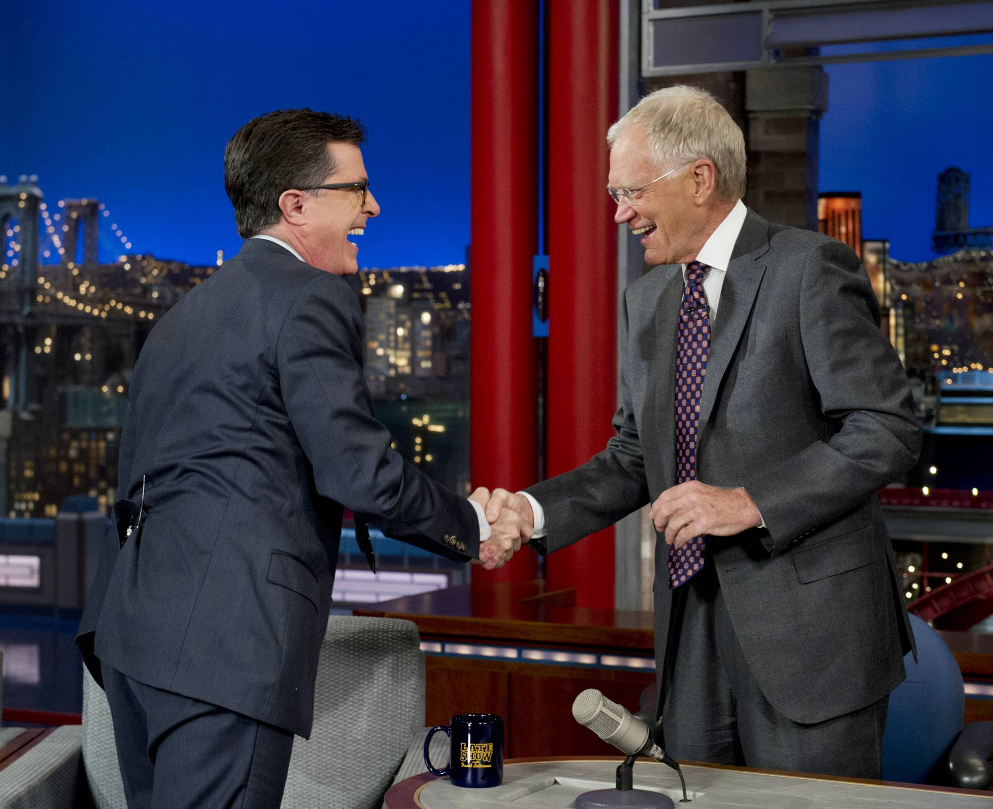 The late-night transition from David Letterman to Stephen Colbert and from Craig Ferguson to a yet-to-be-named host remains undecided, CBS Entertainment chief Nina Tassler said Thursday, July 17, 2014.