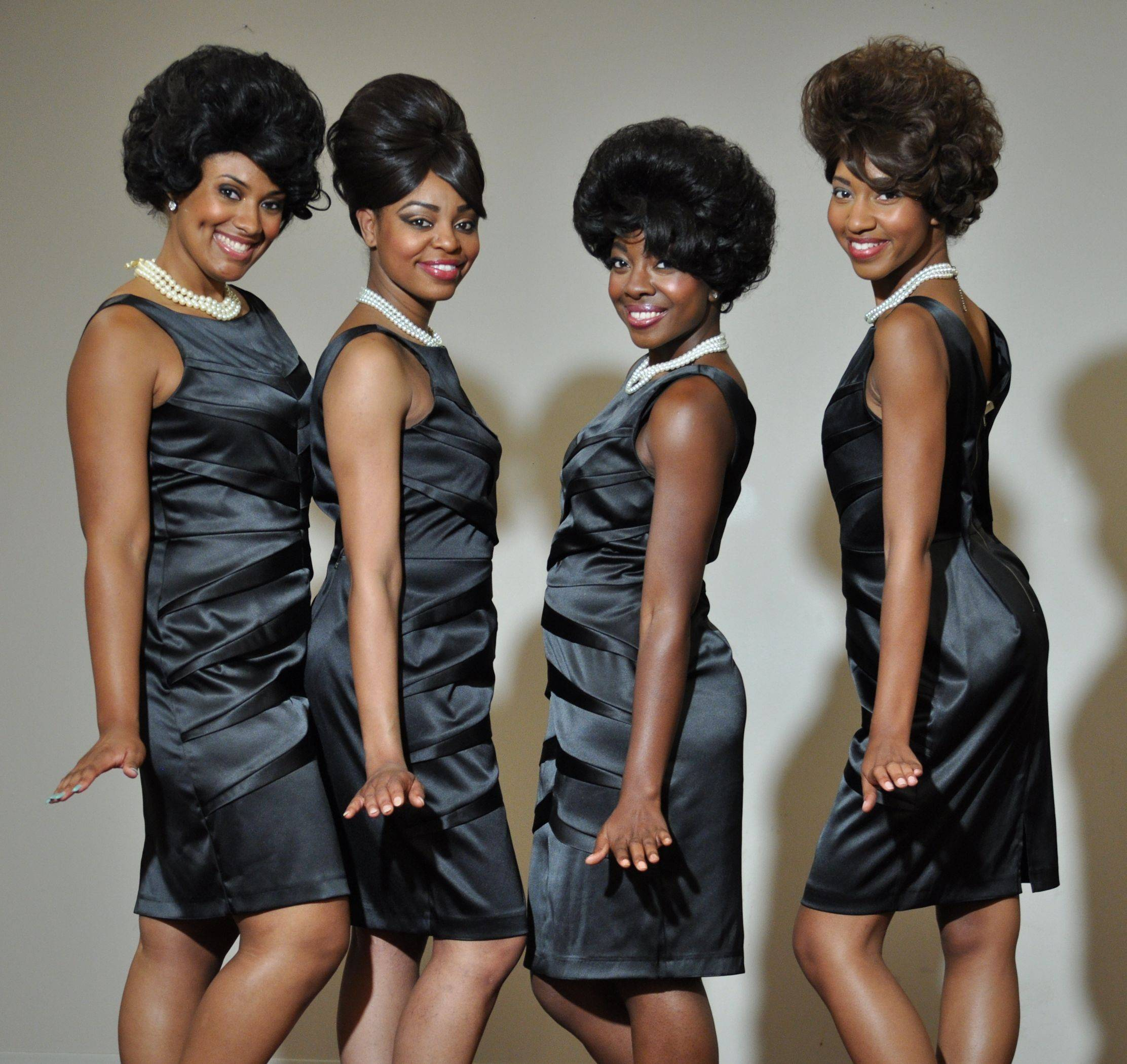 "Alanna Taylor, Melanie McCullough, Christina Harper and Katrina Richard star in Black Ensemble Theater's ""The Marvelous Marvelettes."""