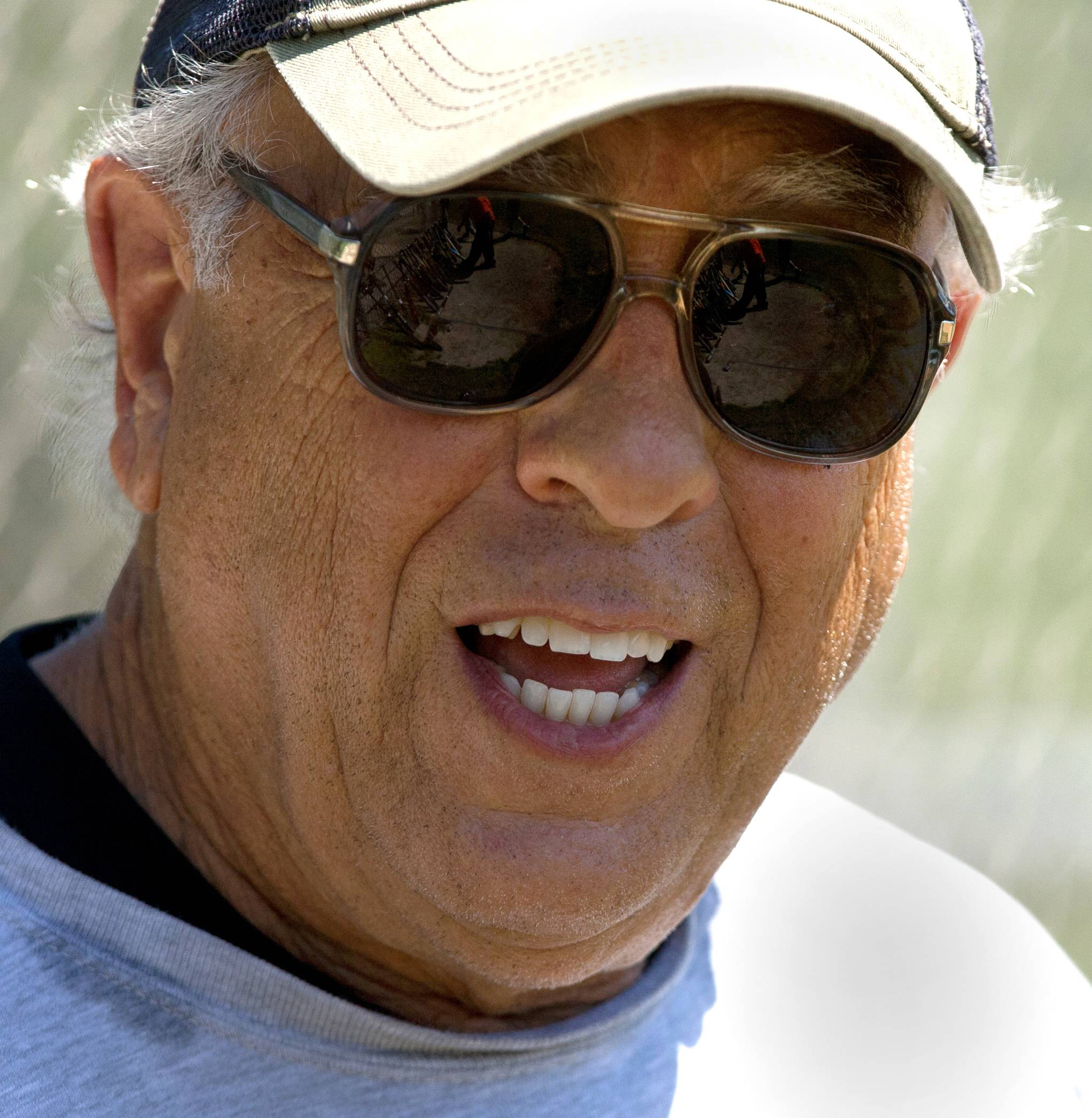 Chris Argianas, 80. has played for the Naperville Men's Senior Softball League for the past nine years.