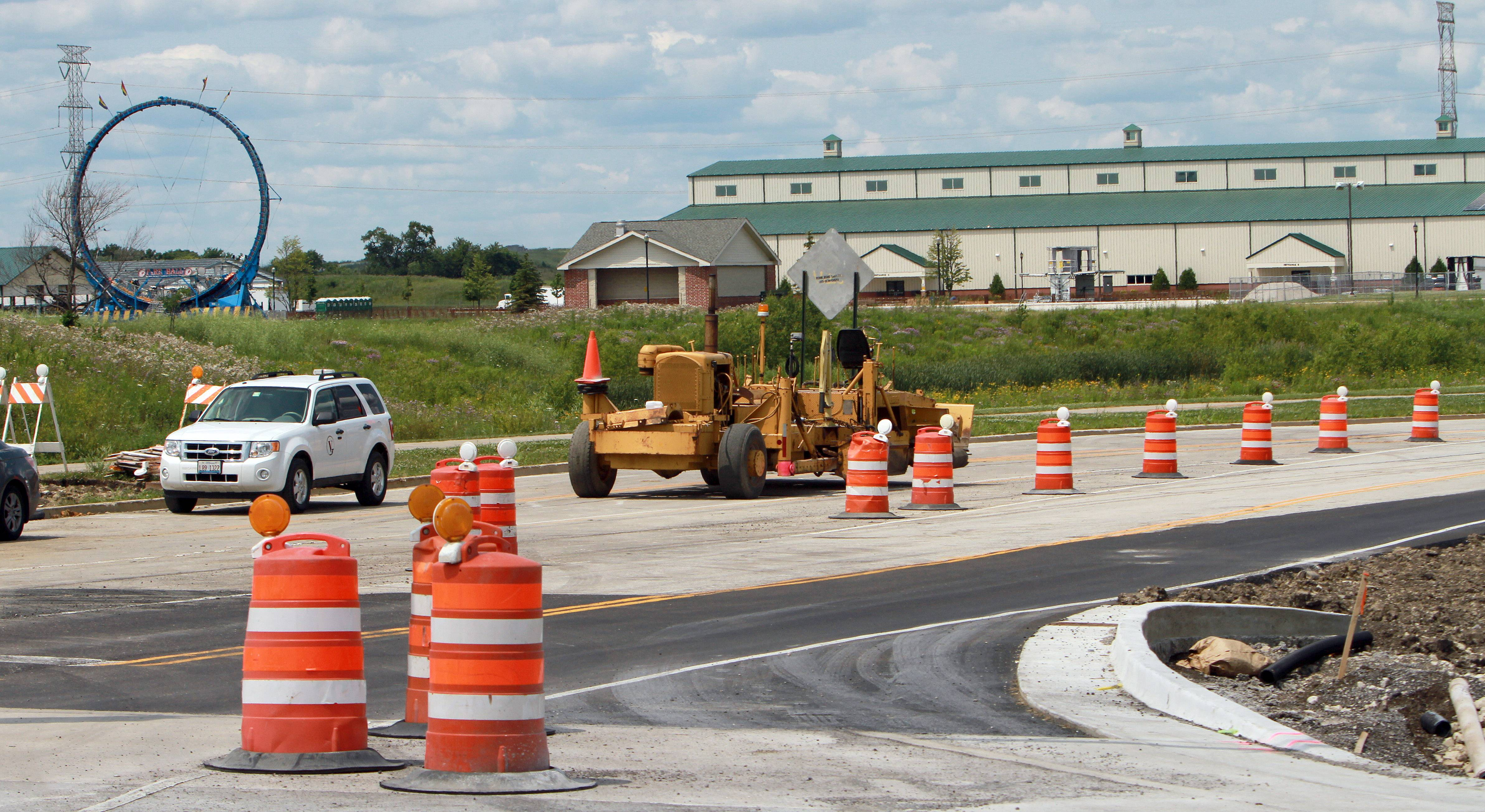 Road construction at Midlothian and Peterson roads is not expected to affect traffic next week heading in and out of the Lake County Fair.