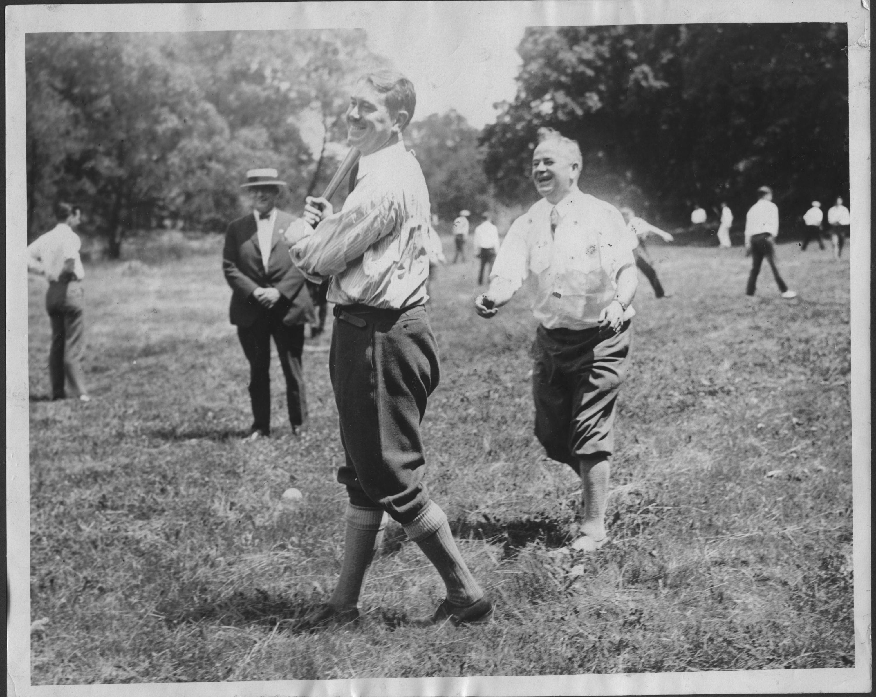 Col. Robert R. McCormick plays baseball at Cantigny, where he lived for 35 years until his death in 1955. The park will celebrate his birthday with festivities on Wednesday, July 30.