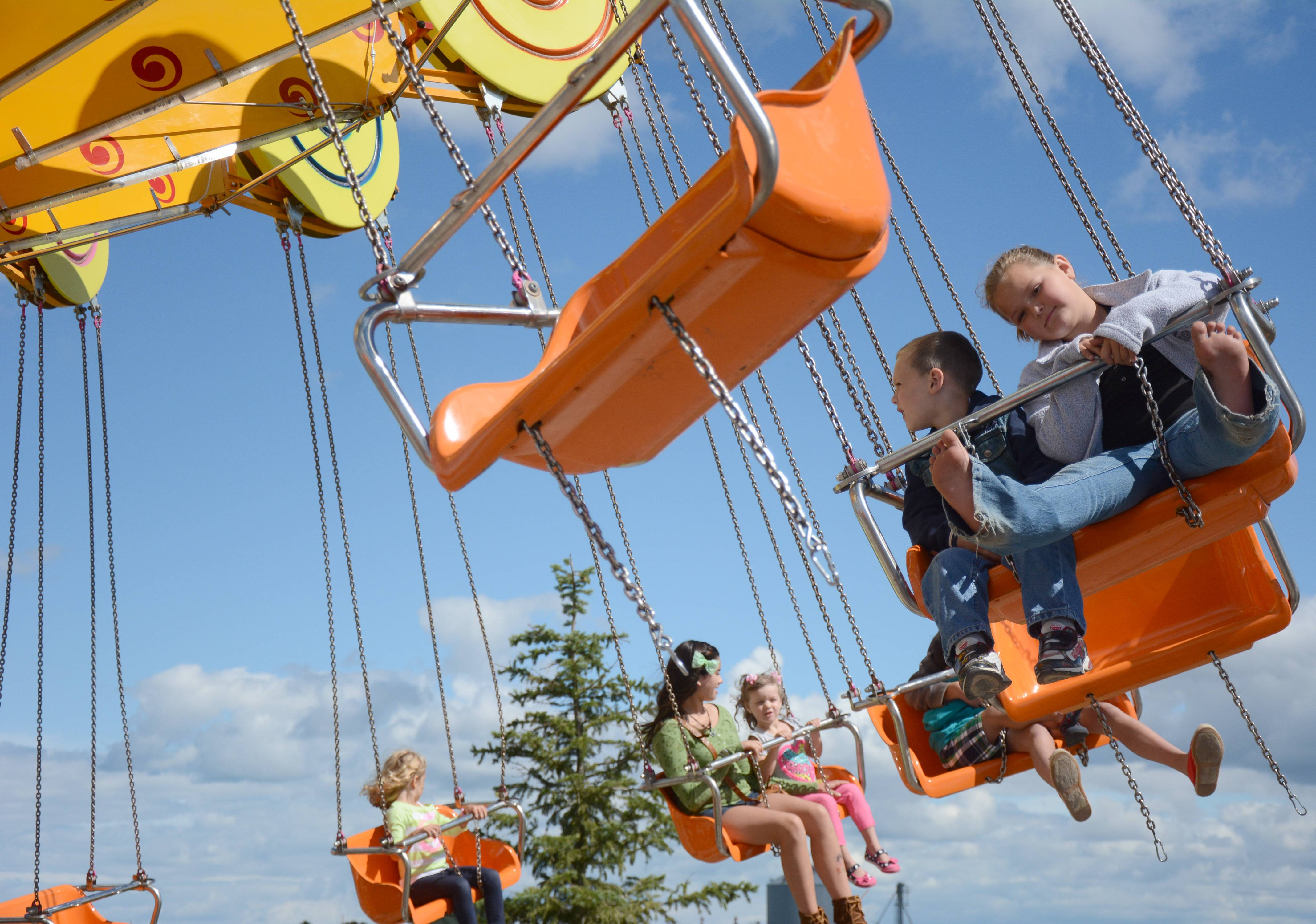 Kids can enjoy rides once again at this year's Lake County Fair in Grayslake.