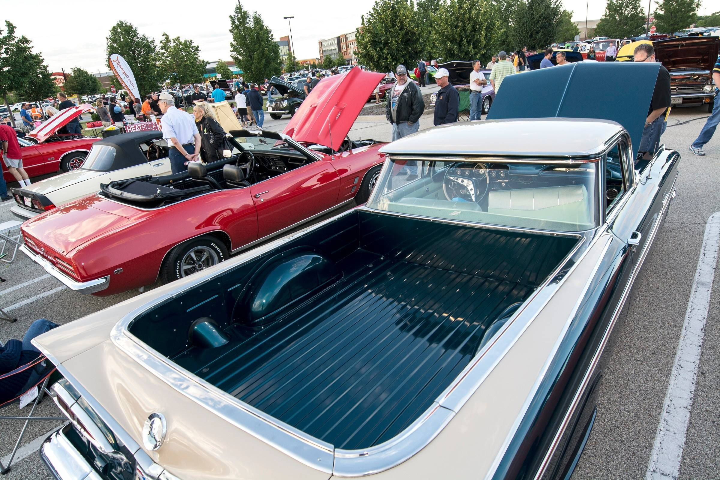 The Randhurst Village show's wide variety of automobiles pleased spectators.