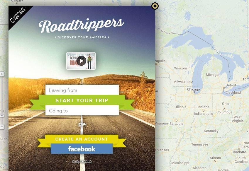 RoadTrippers lets you plot your course and highlights points of interest along the way that may be worth adding to your journey.