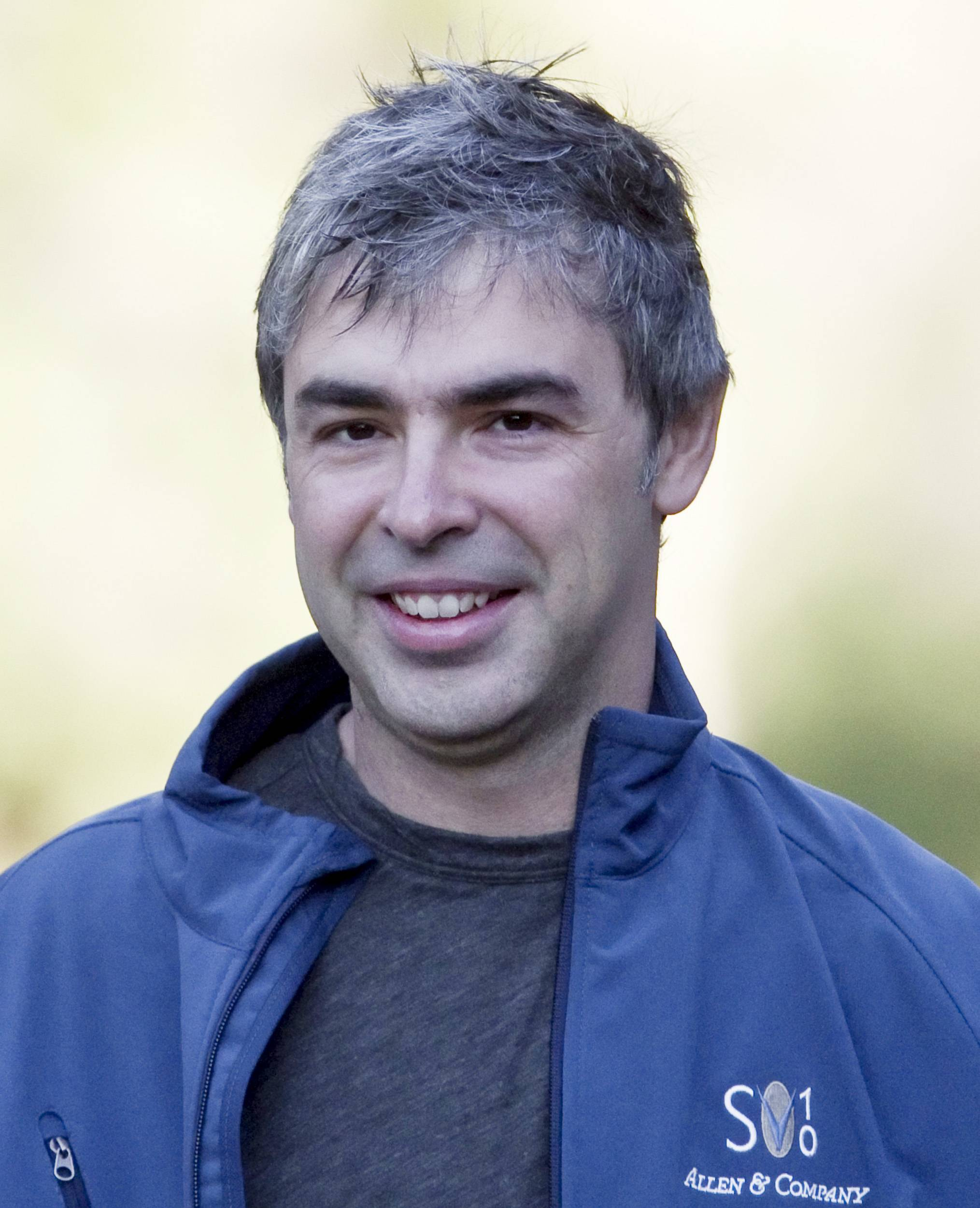 Associated Press/FileGoogle's chief executive Larry Page Page said he thinks that people's basic needs are small, yet their need to have something productive to do is significant. One of today's big social problems is finding a way to reconcile the two.