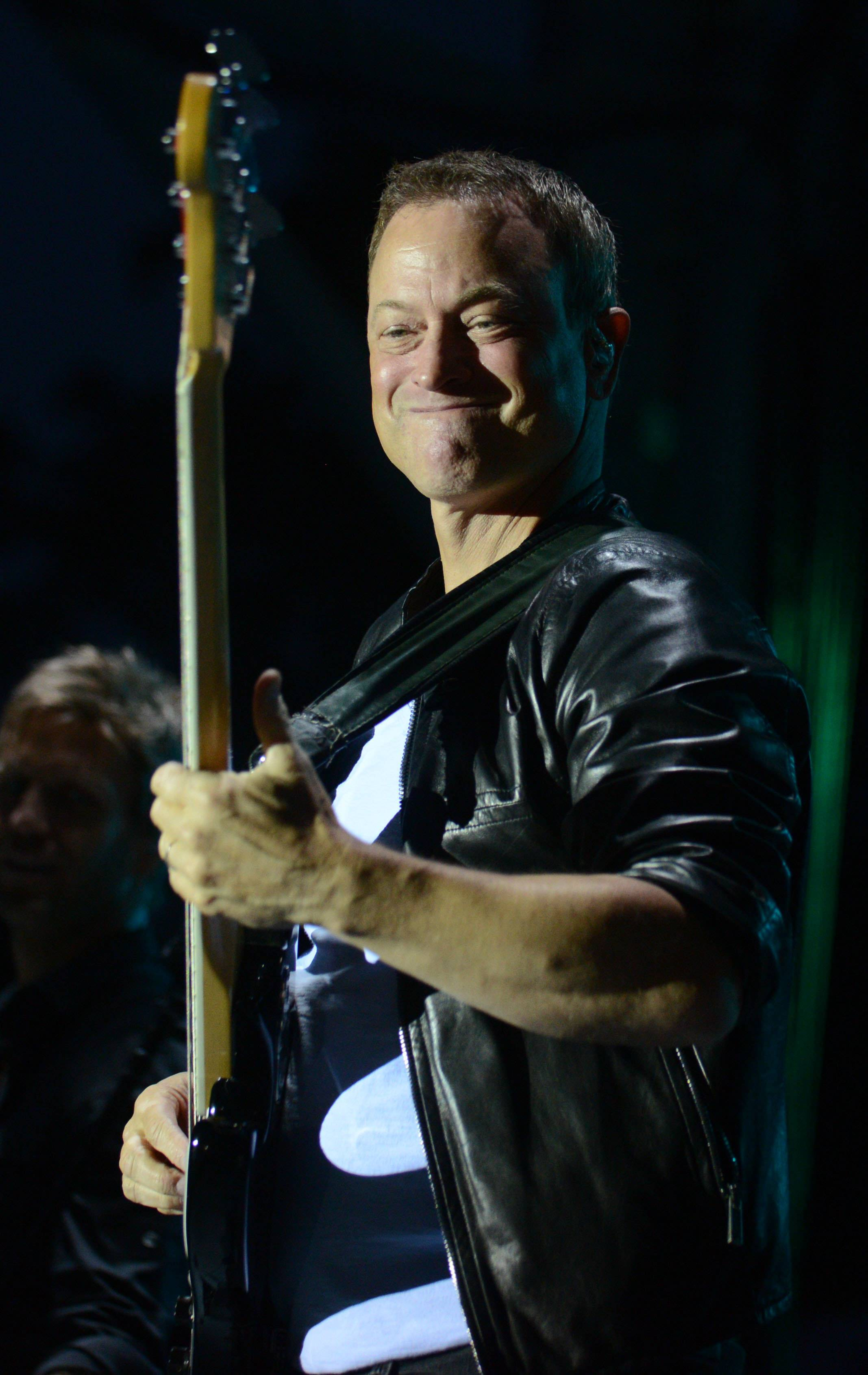 Actor Gary Sinise and his Lt. Dan Band perform to raise money for Operation Support Our Troops-America, an organization formed by a couple of Naperville moms to provide care packages for our troops overseas.