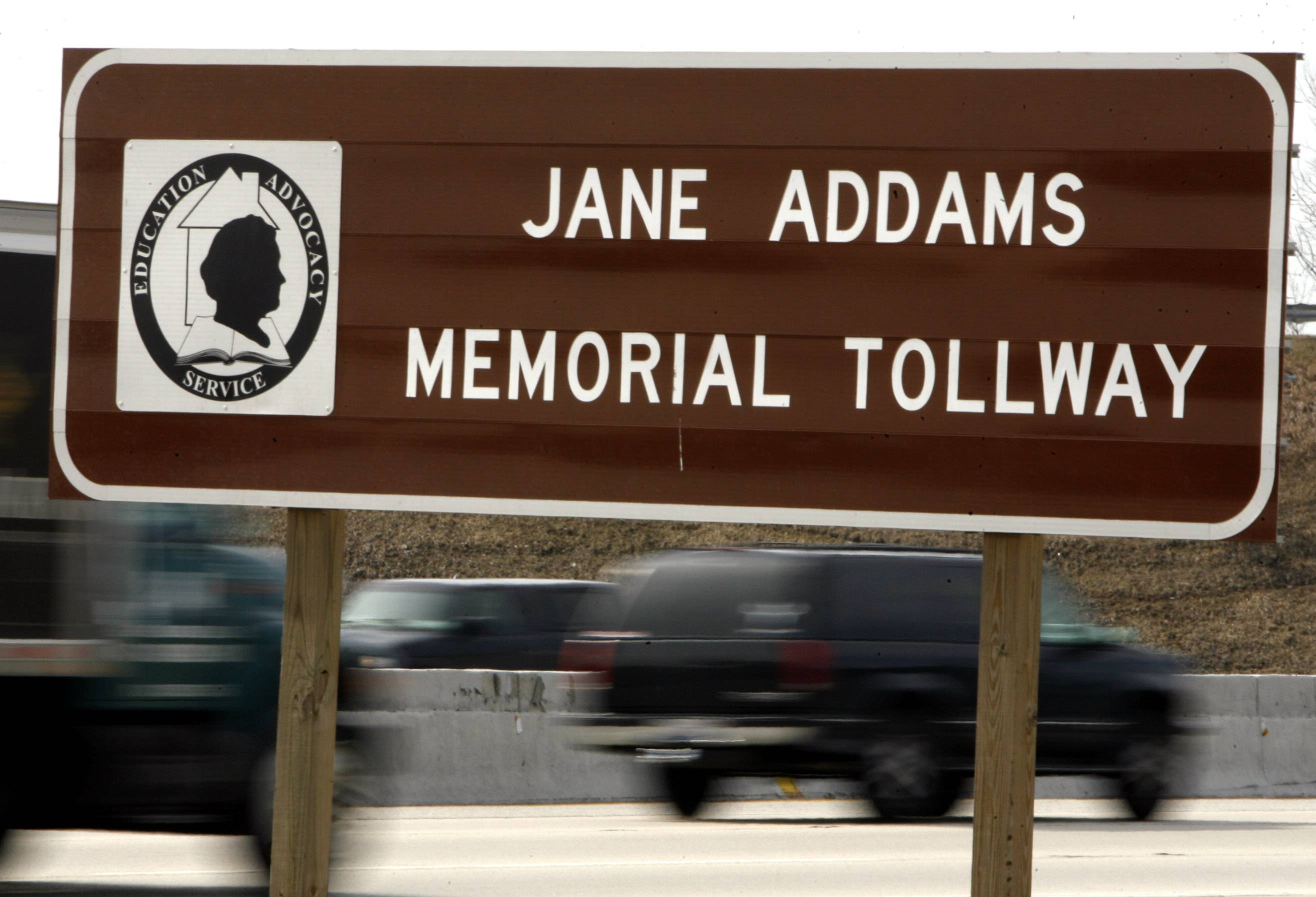 Eastbound Jane Addams Memorial Tollway lanes were closed this evening after a five-car pileup near the I-294 interchange.