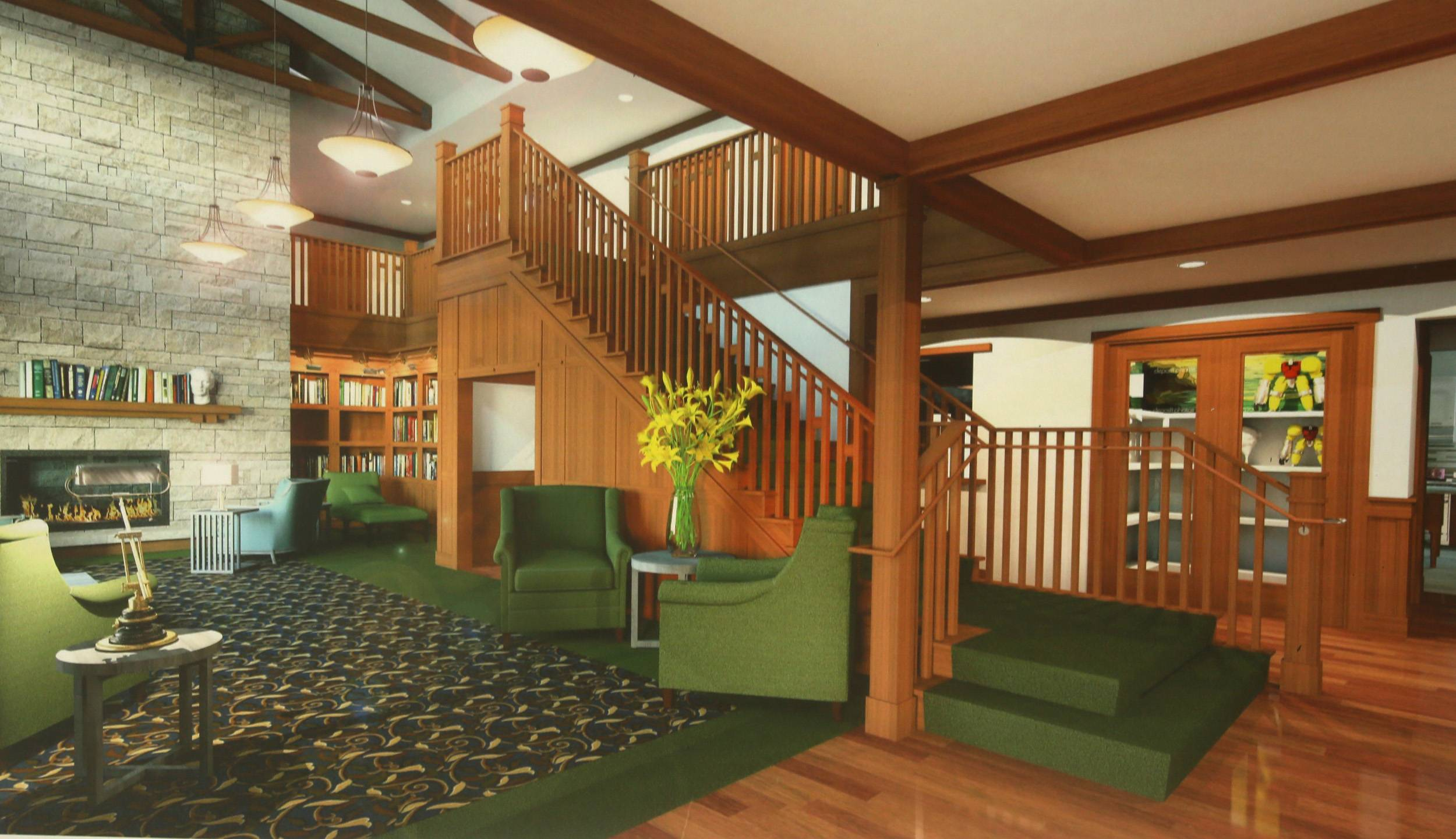 This is a sketch showing what the interior of the Ronald McDonald House will look like.