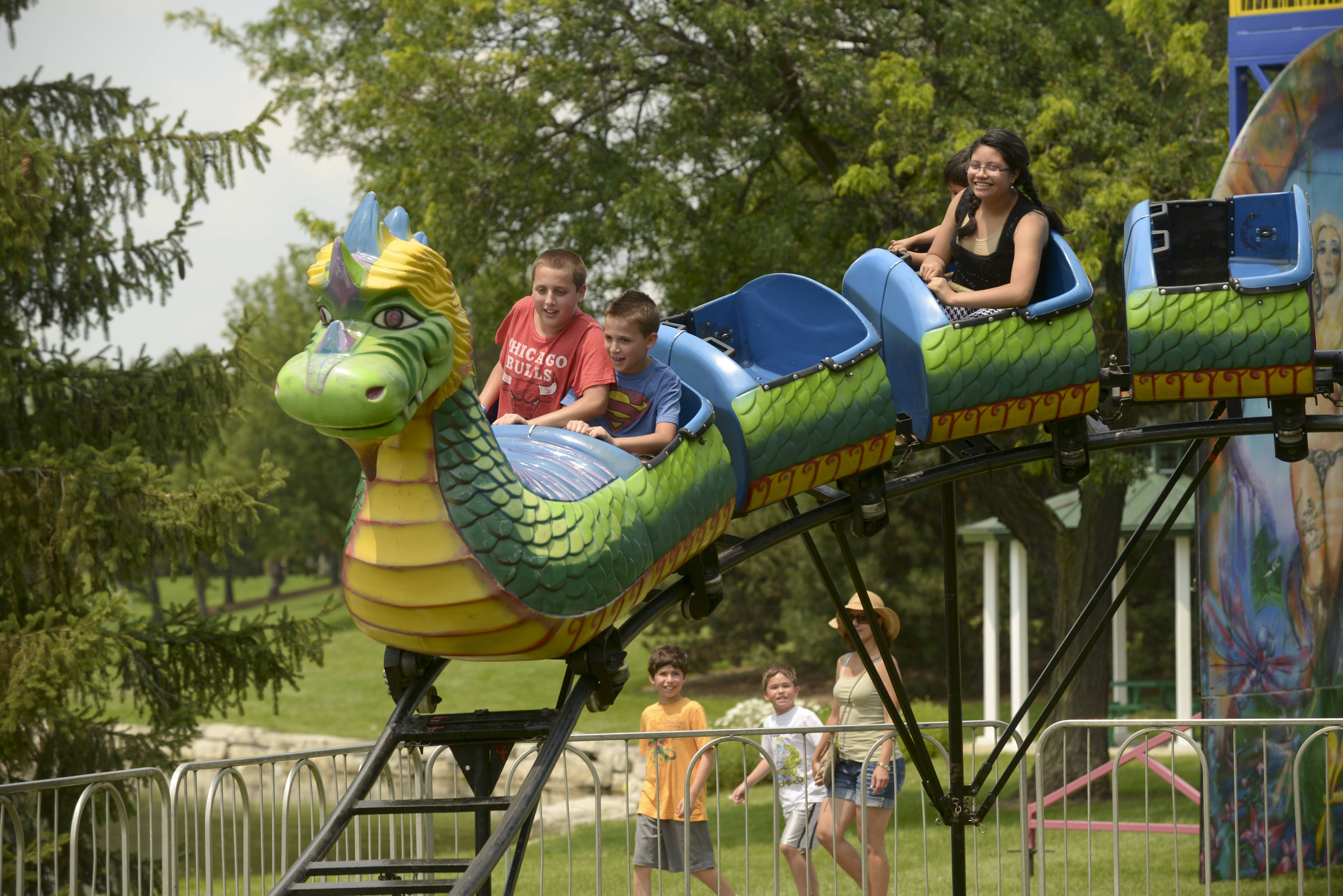 The Dragon Wagon zooms up and down Saturday at the Vernon Hills Summer Celebration.